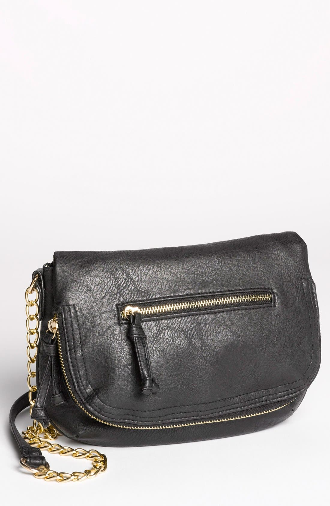 Main Image - Under One Sky Faux Leather Crossbody Bag (Juniors)