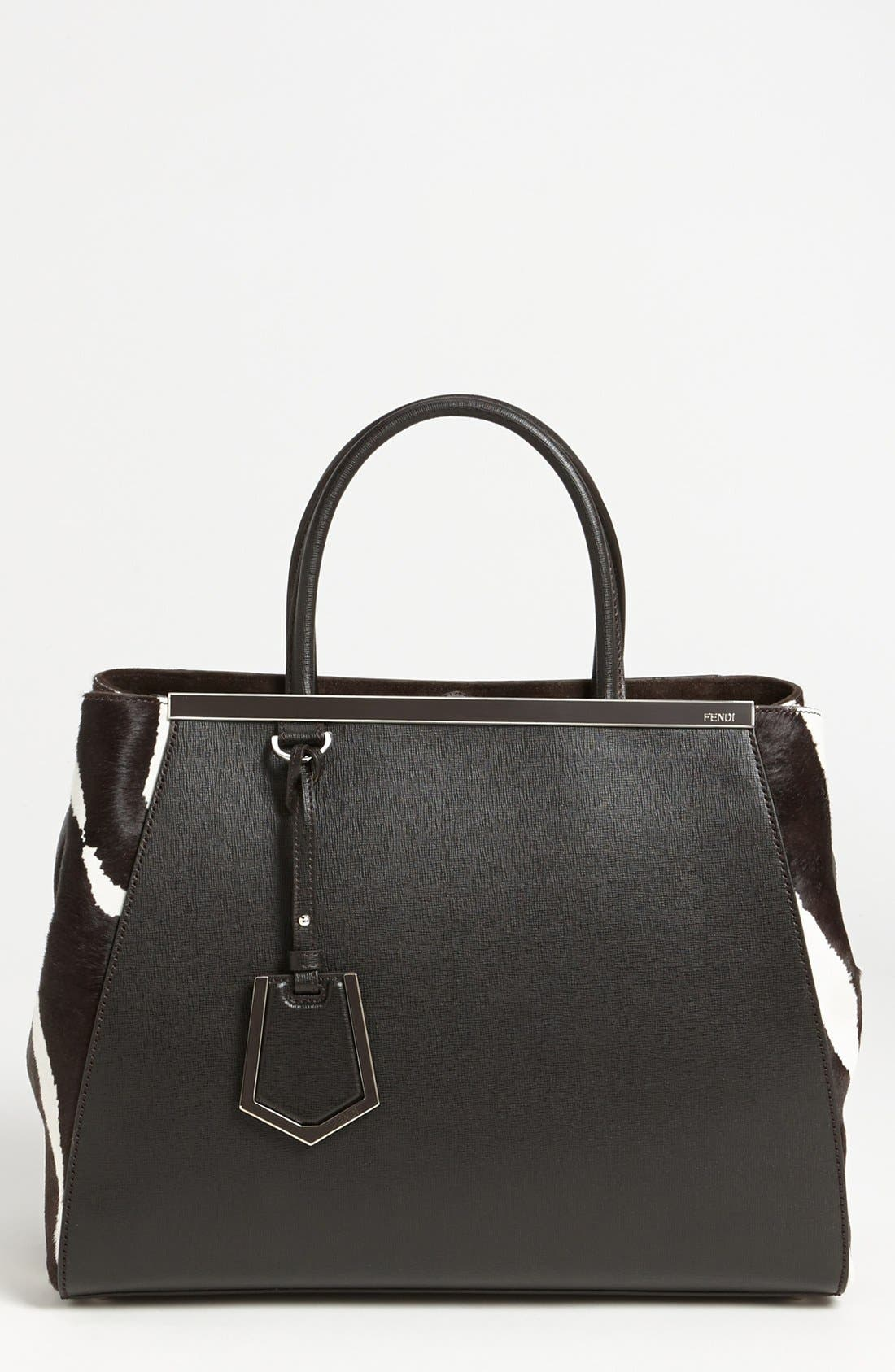 Alternate Image 1 Selected - Fendi 'Medium 2Jours' Calf Hair Shopper