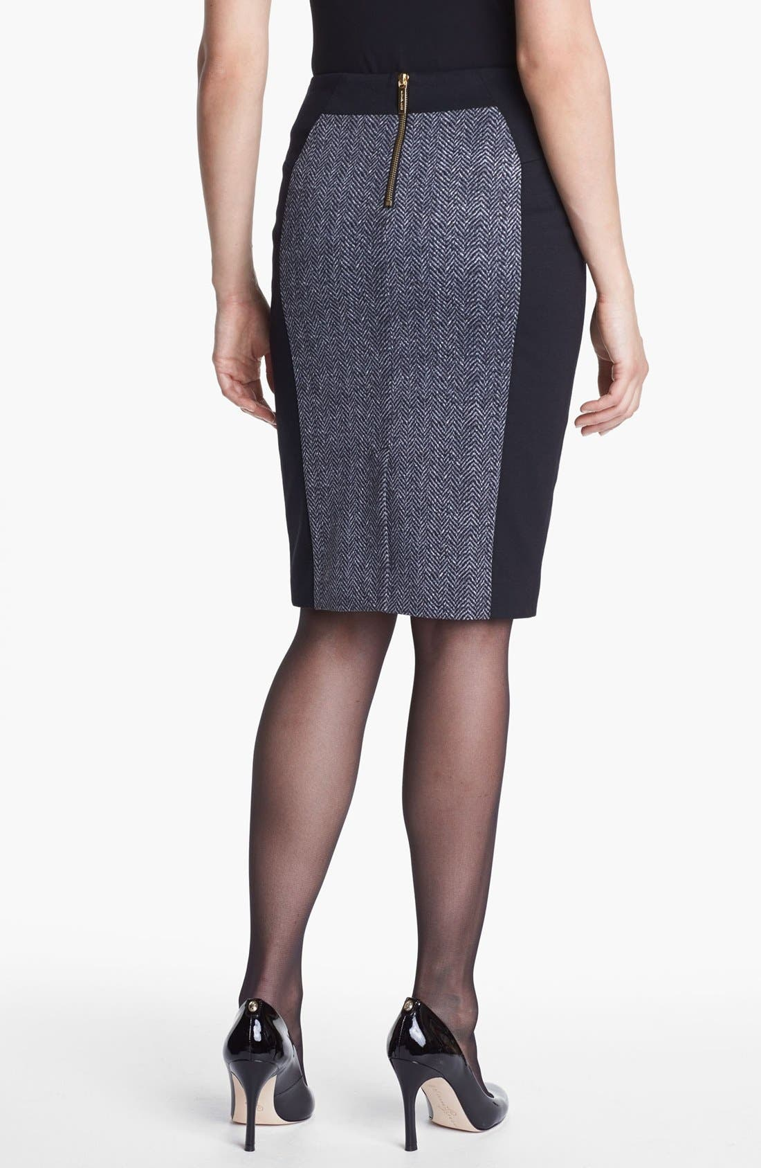 Alternate Image 3  - MICHAEL Michael Kors Colorblock Ponte Skirt