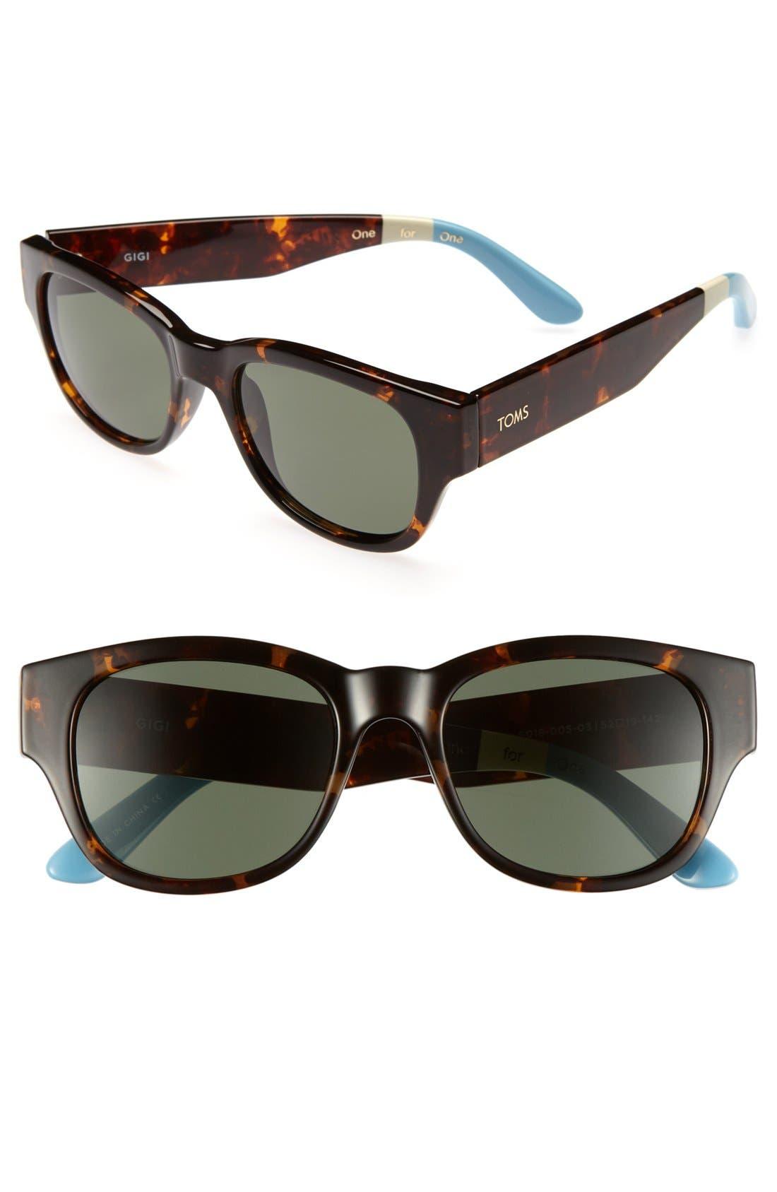 Alternate Image 1 Selected - TOMS 'Gigi' 52mm Sunglasses