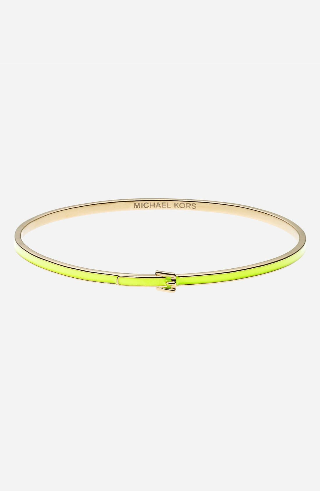 Alternate Image 1 Selected - Michael Kors 'Bedford' Skinny Buckle Bangle