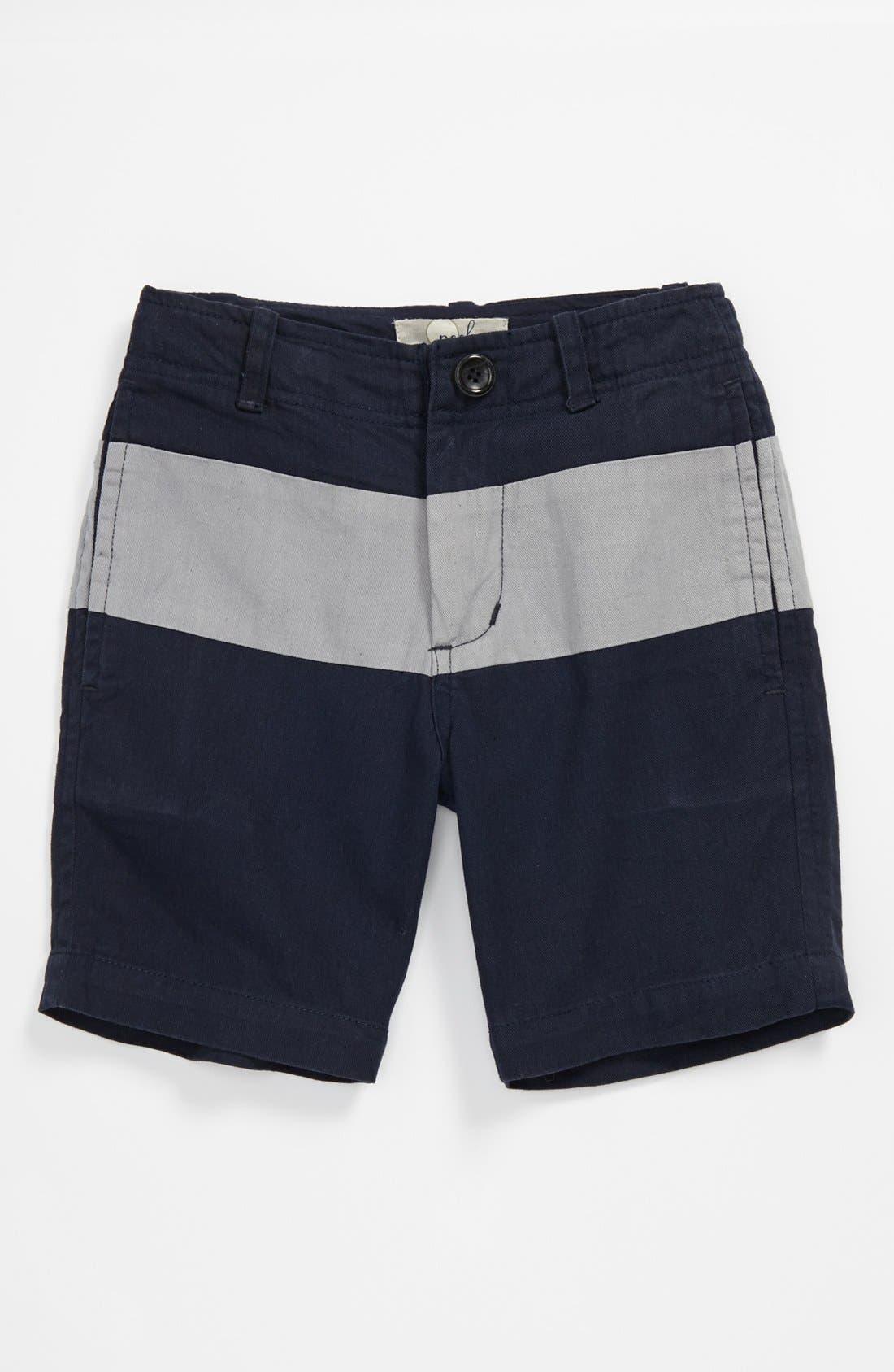 Main Image - Peek Cotton Twill Shorts (Big Boys)