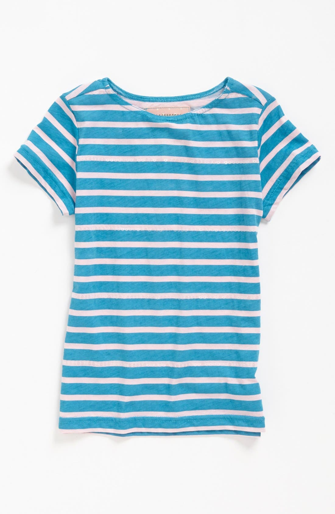 Alternate Image 1 Selected - Penny Candy Sequin Stripe Tee (Little Girls & Big Girls)