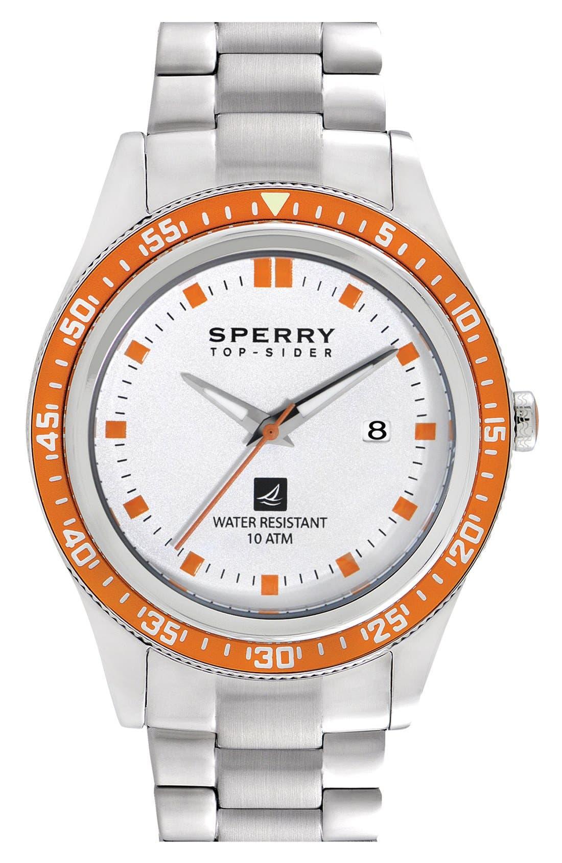 Alternate Image 1 Selected - Sperry 'Navigator' Bracelet Watch, 44mm