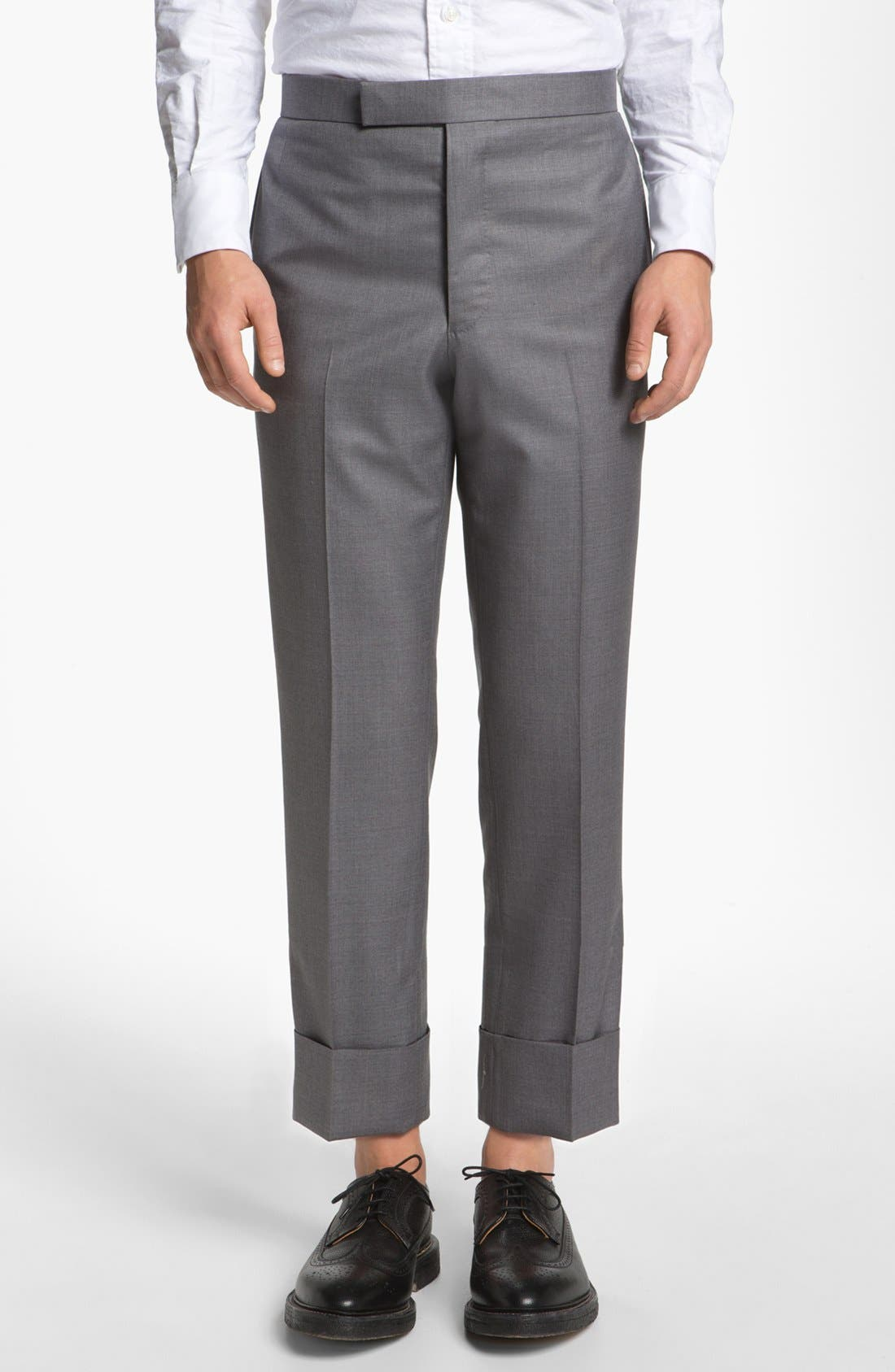 Alternate Image 1 Selected - Thom Browne Wool & Cashmere Trousers