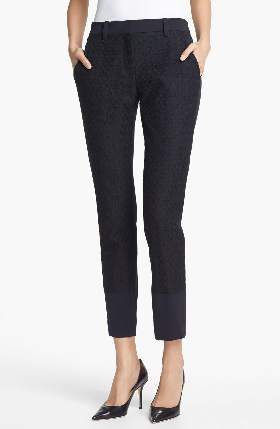 Main Image - A.L.C. 'Taylor' Checkerboard Lace Pants
