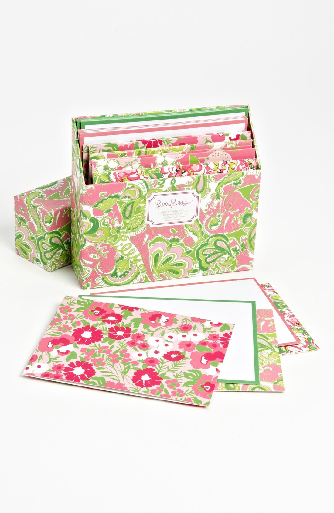 Alternate Image 2  - Lilly Pulitzer® 'Chin Chin' Note Cards (Set of 12)