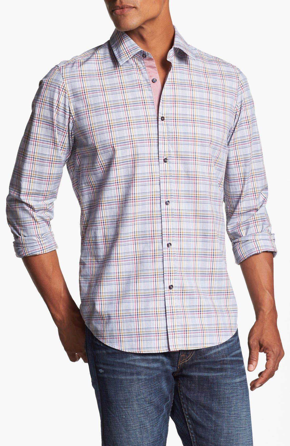 Alternate Image 1 Selected - BOSS HUGO BOSS 'Lucas' Regular Fit Sport Shirt