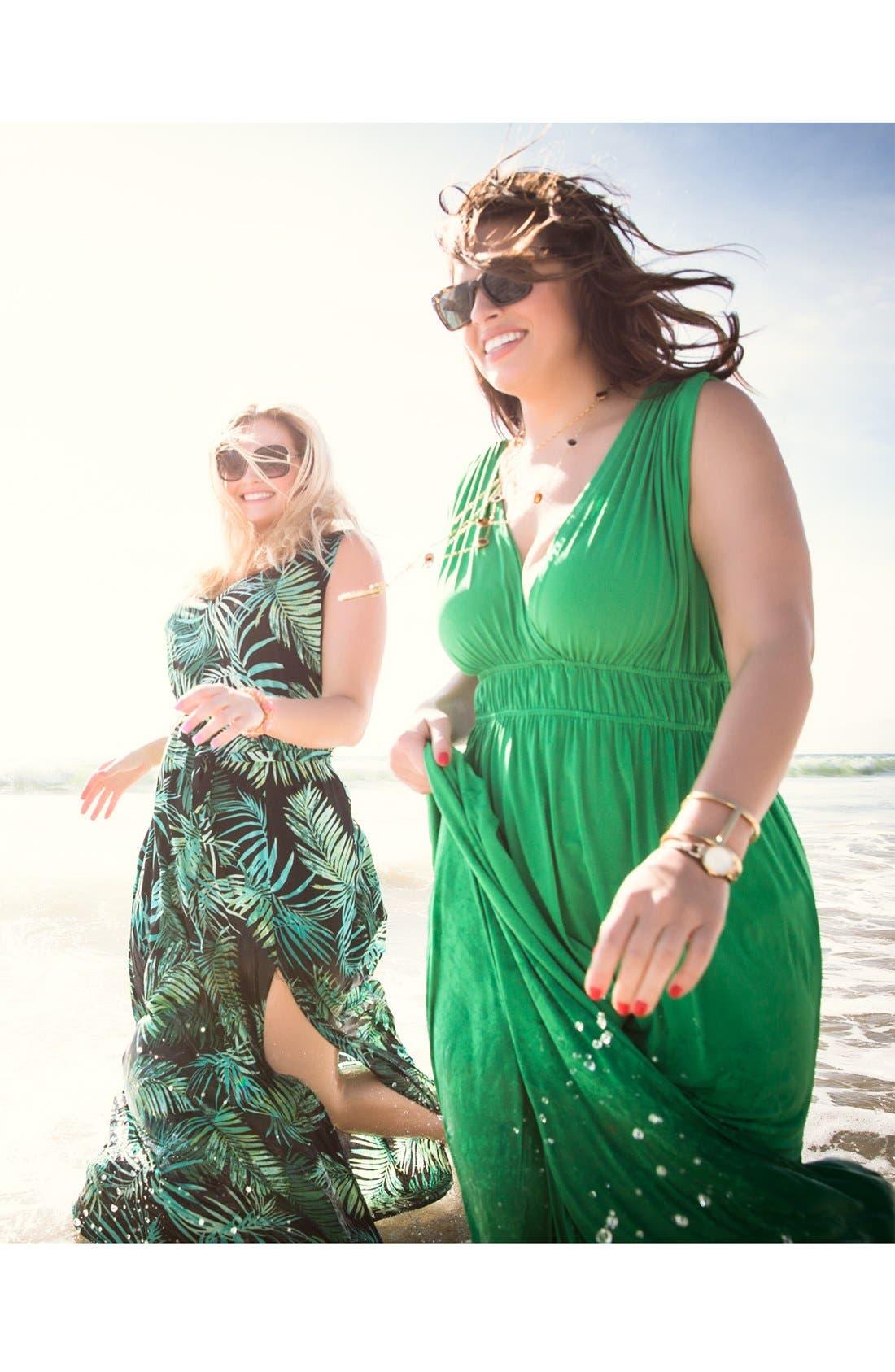 Alternate Image 4  - Eight Sixty Print Sleeveless Maxi Dress (Plus Size)