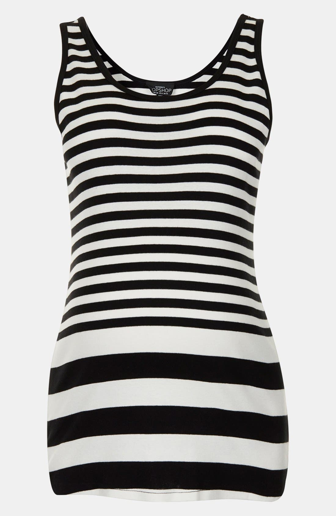 Main Image - Topshop Stripe Cotton Maternity Tank