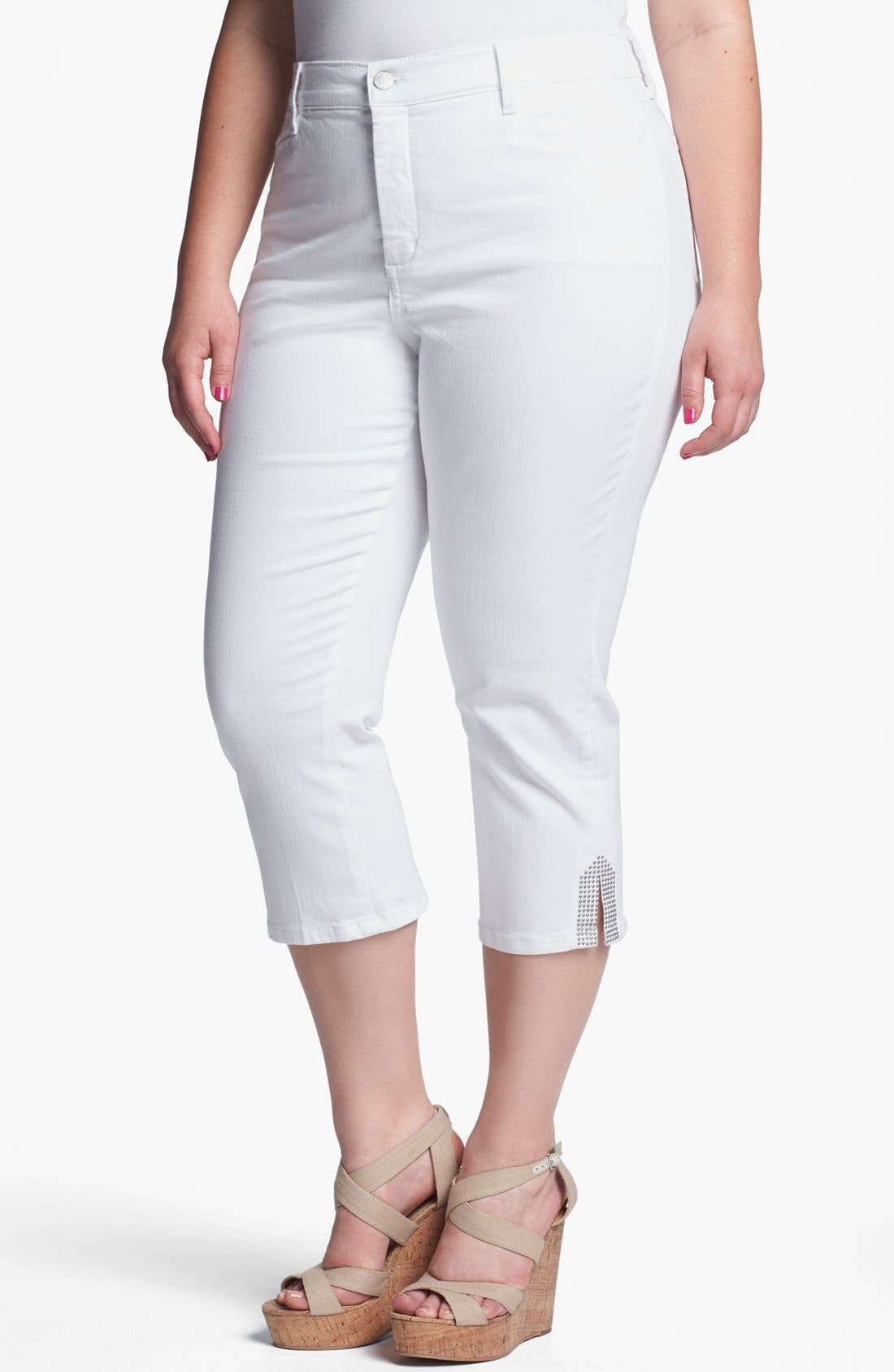 Alternate Image 1 Selected - NYDJ 'Suzy' Crop Jeans (Plus Size)