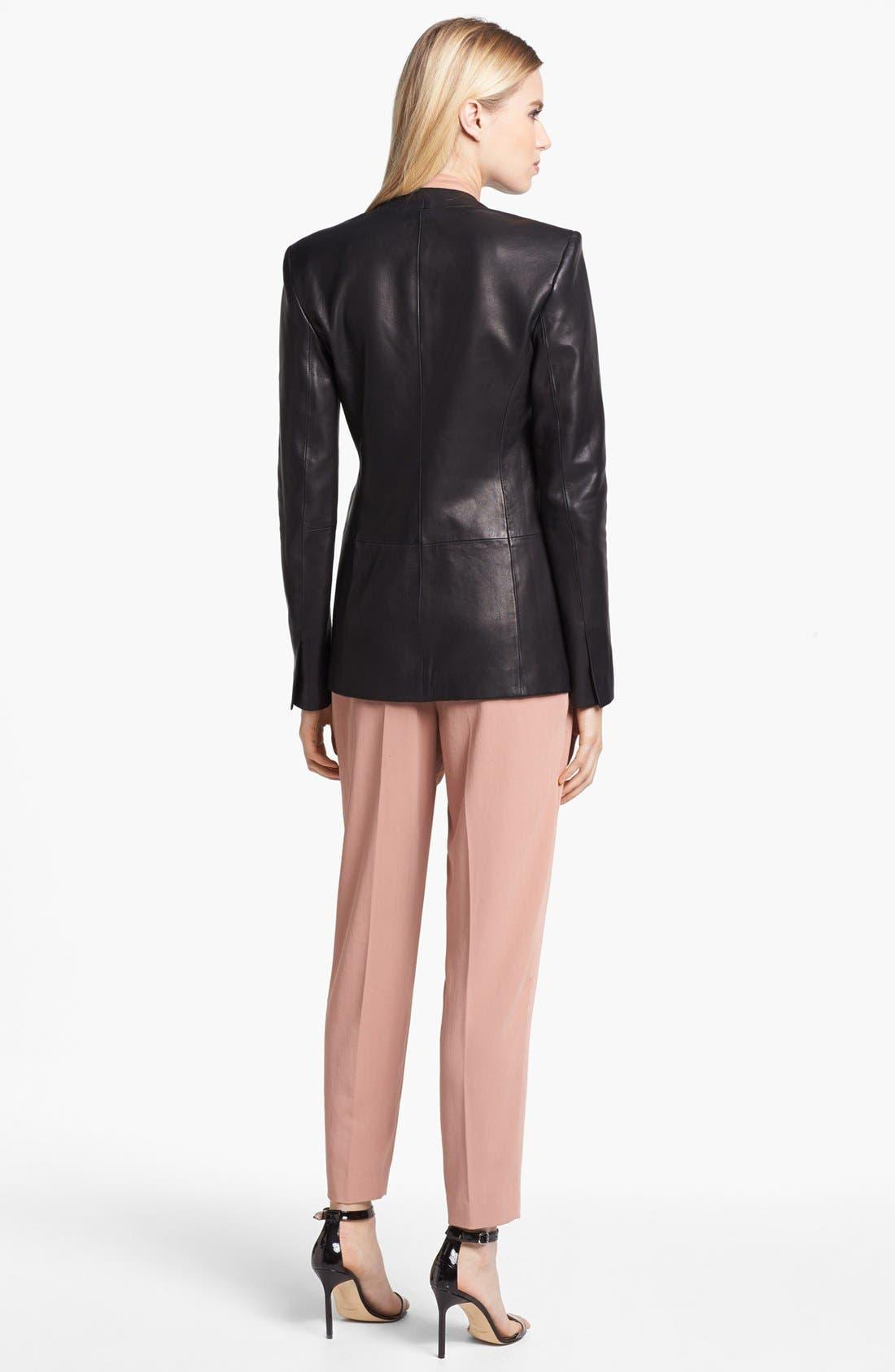 Alternate Image 5  - Theory 'Tamler R.' Open Leather Blazer