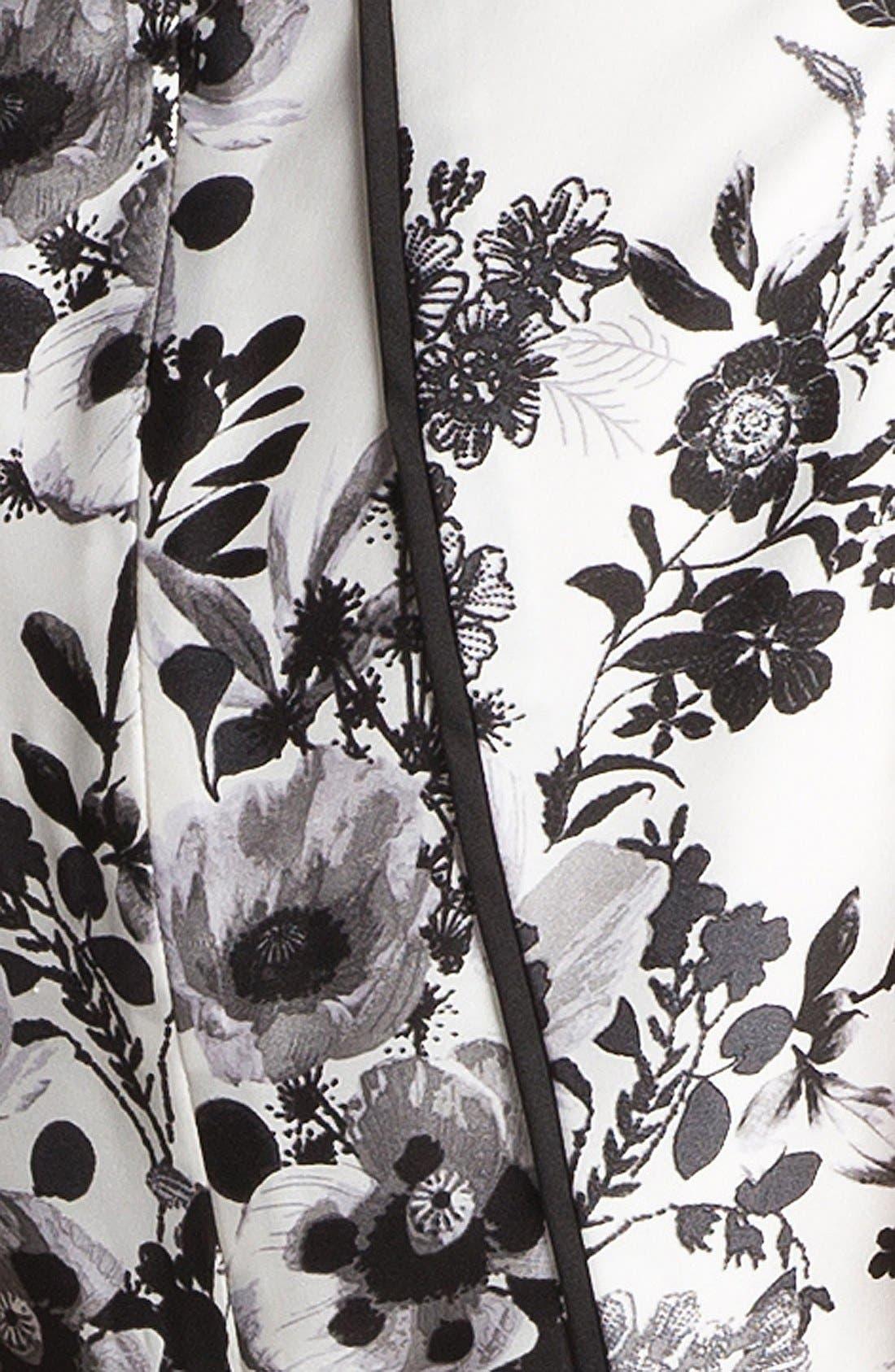 Alternate Image 3  - Vince Camuto Garden Print Peplum Blouse (Petite)