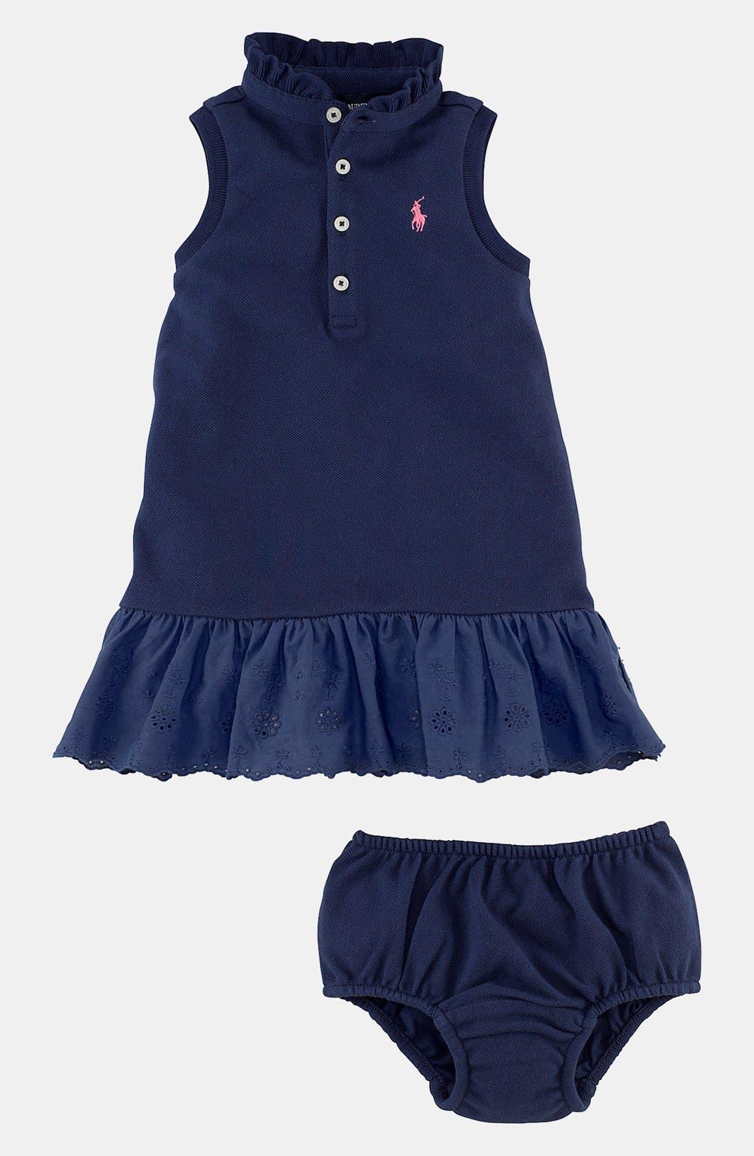 Alternate Image 2  - Ralph Lauren Polo Dress (Baby Girls)