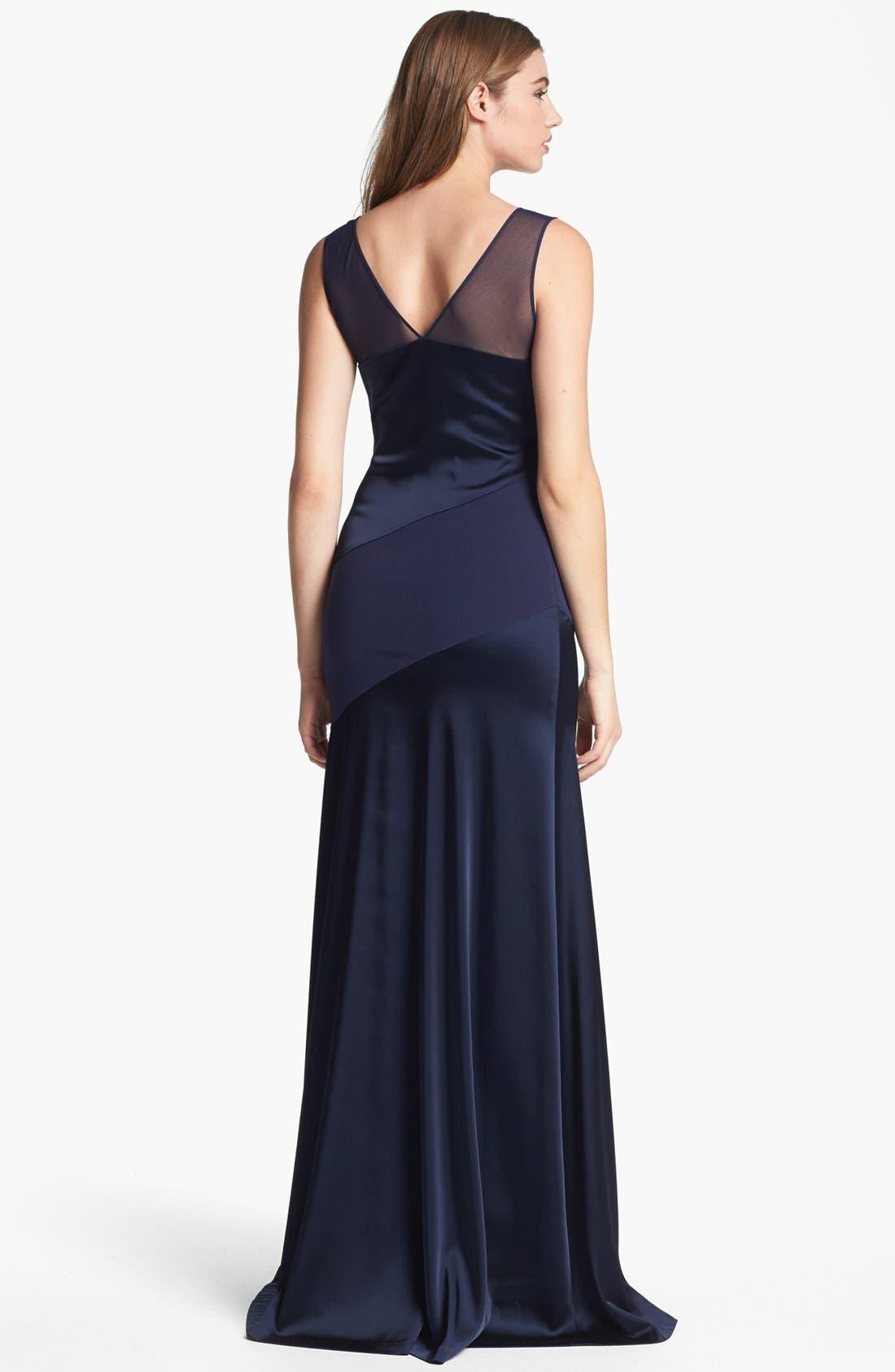 Alternate Image 2  - Halston Heritage Sleeveless Asymmetric Gown