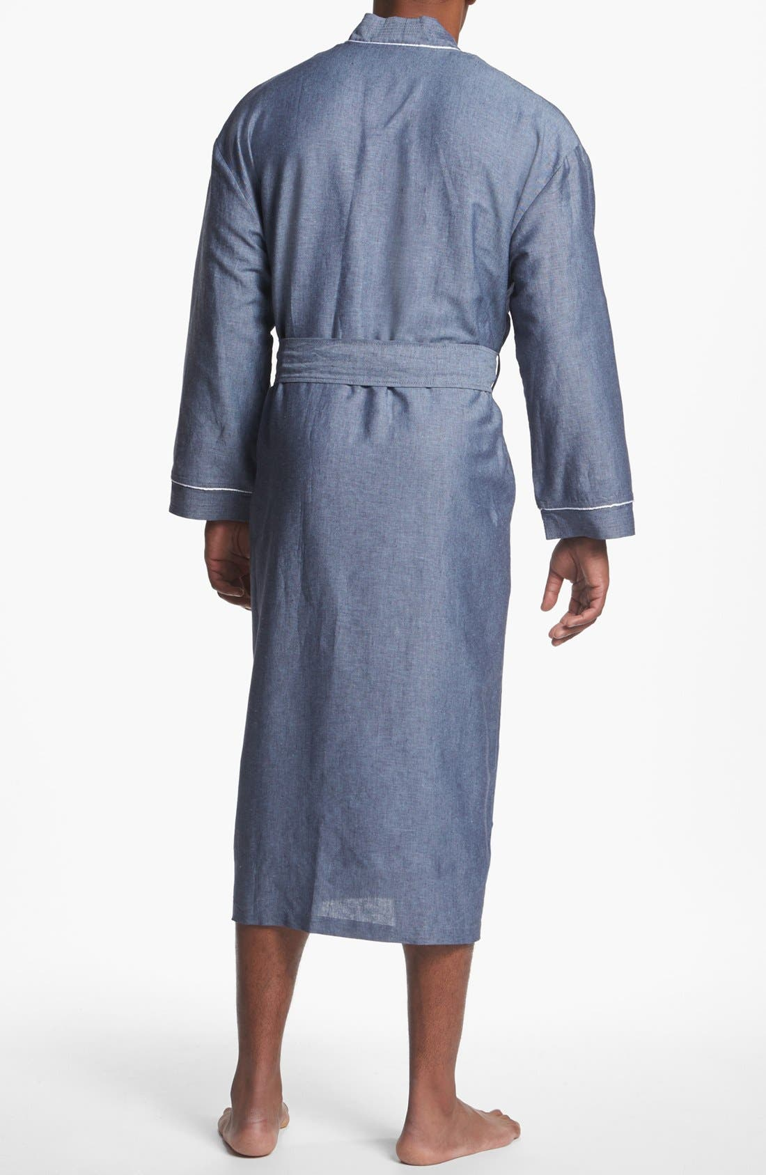 Alternate Image 2  - Majestic International 'Capriz' Linen Blend Robe