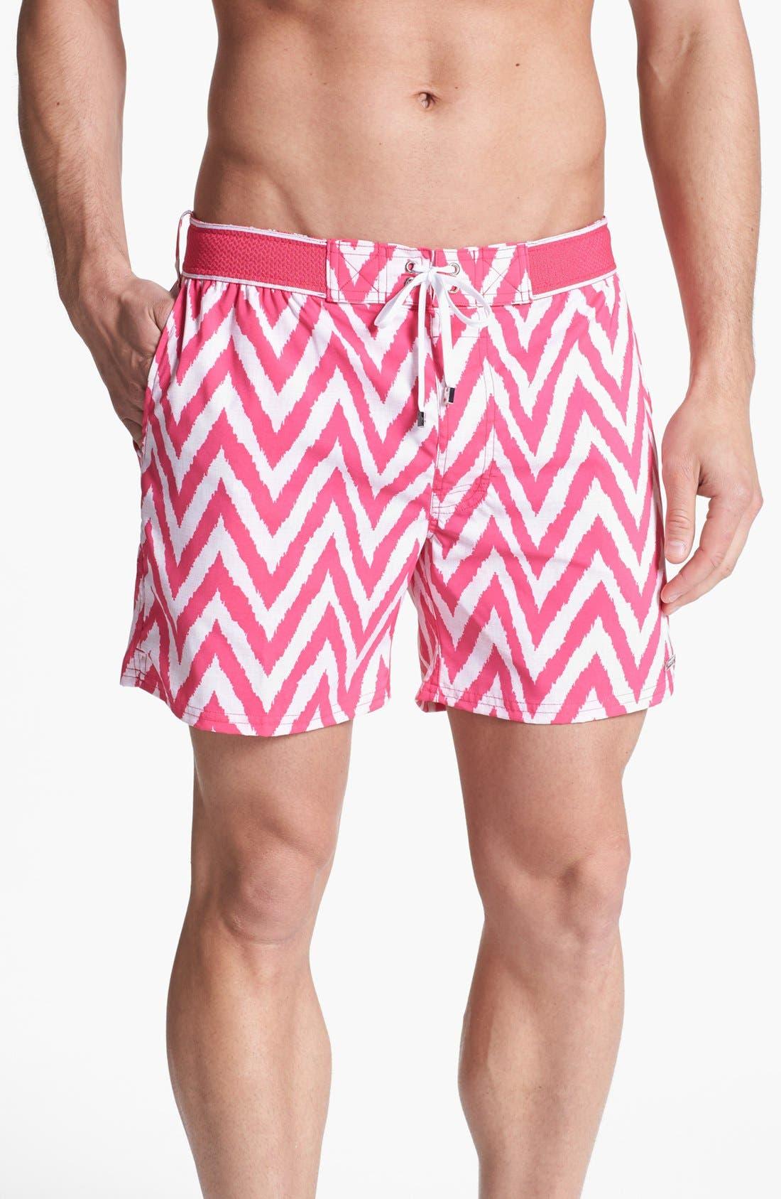 Alternate Image 1 Selected - 2(x)ist 'Hampton' Zigzag Swim Trunks