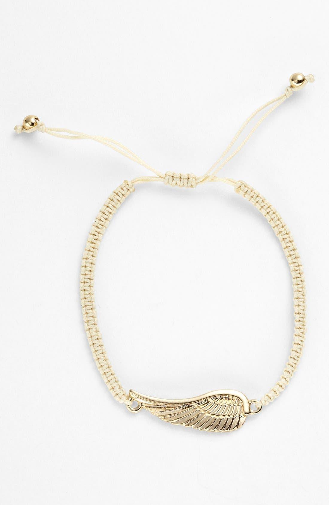Alternate Image 1 Selected - NICO NEW YORK 'Angel Wing' Rope Bracelet
