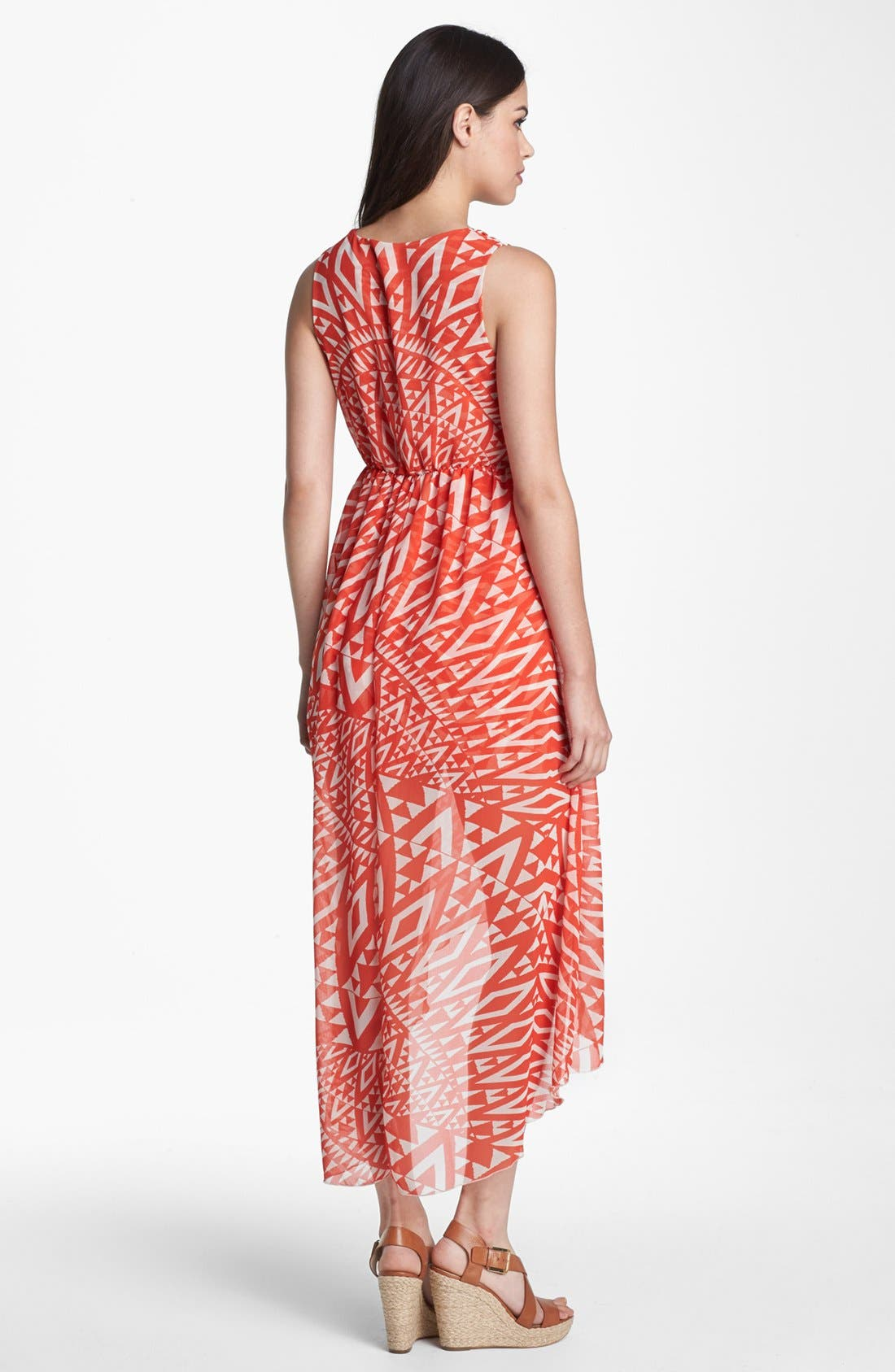 Alternate Image 2  - Sweet Pea by Stacy Frati Print High/Low Chiffon Maxi Dress