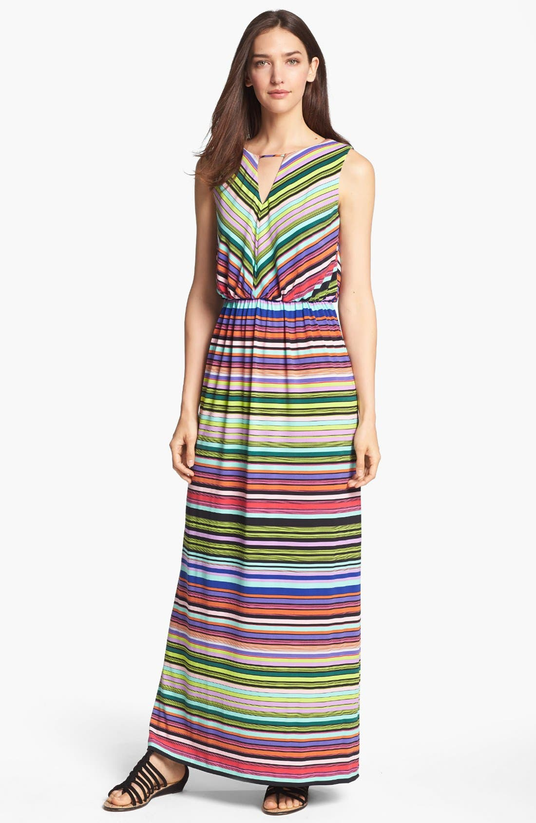 Main Image - Ivy & Blu Stripe Jersey Maxi Dress