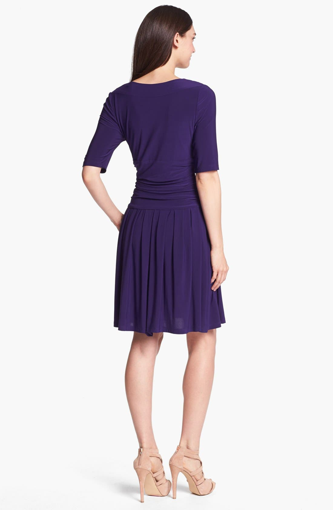 Alternate Image 2  - Eliza J Jersey Fit & Flare Dress (Online Only)