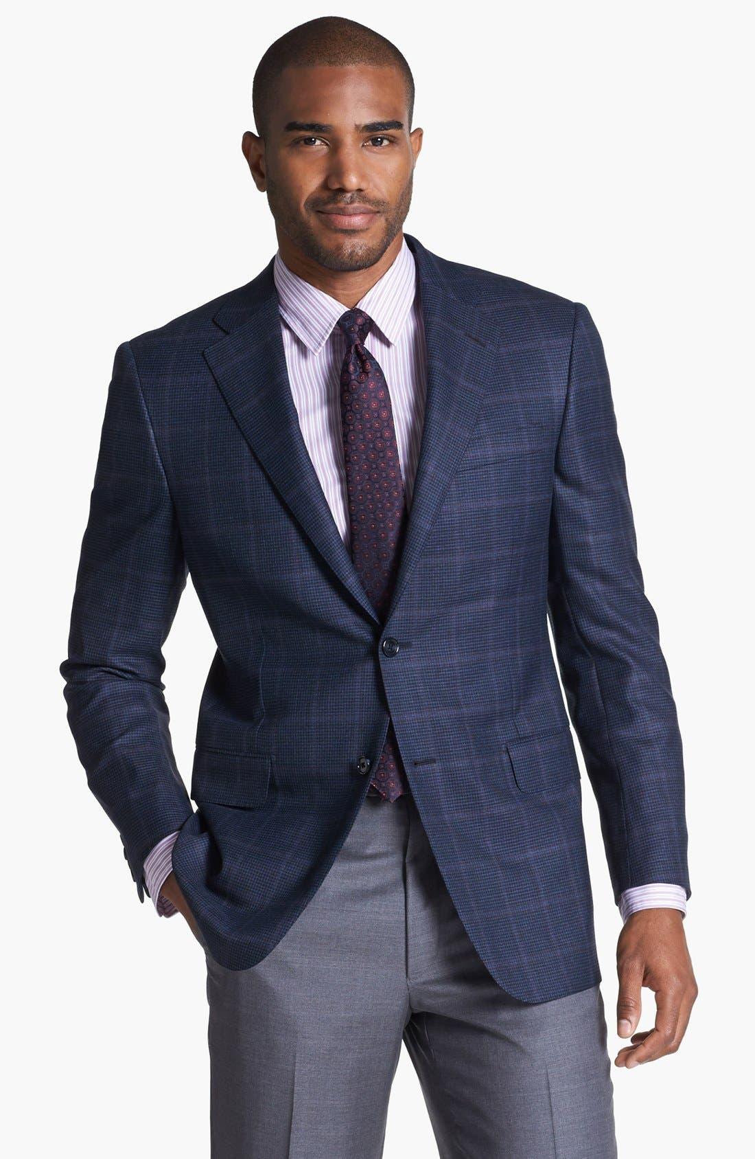 Alternate Image 1 Selected - Hickey Freeman 'B Series' Plaid Wool Sportcoat
