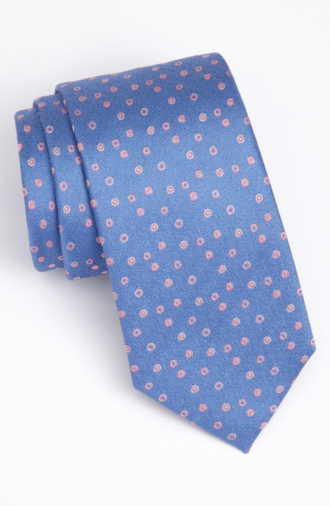Main Image - Thomas Pink Woven Silk Tie