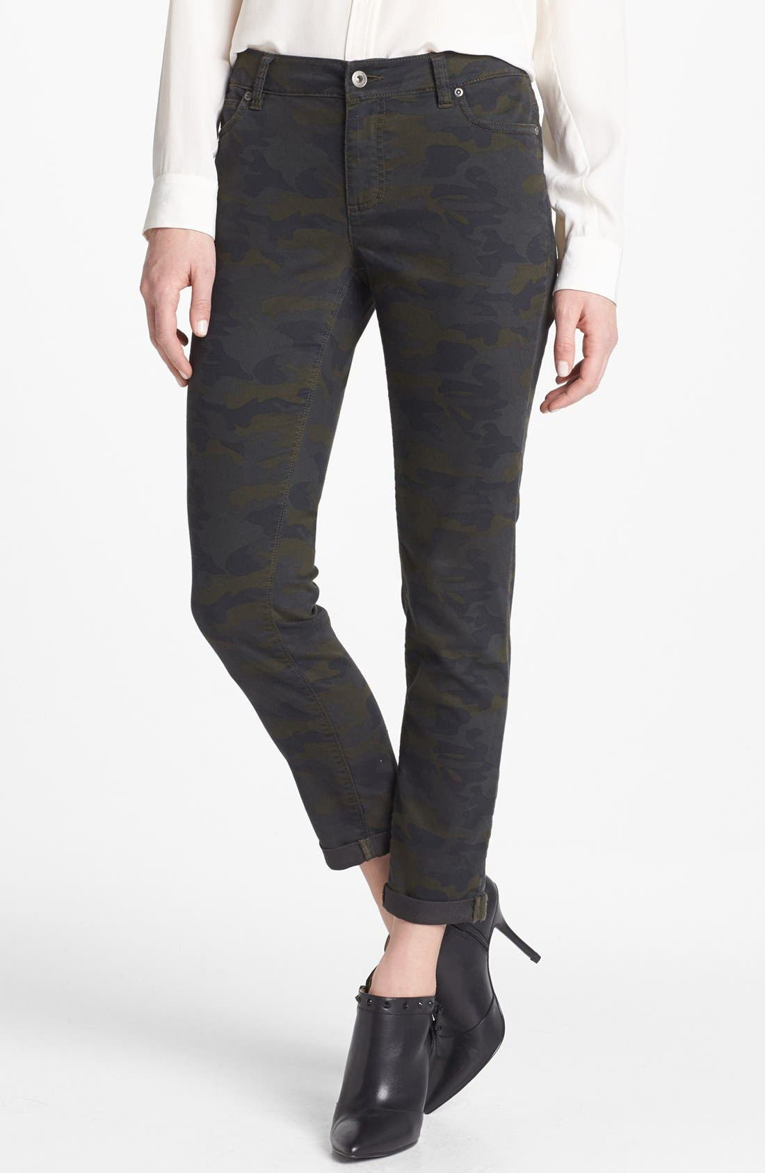Alternate Image 1 Selected - Two by Vince Camuto Camo Cuff Jeans (Dark Leaf)
