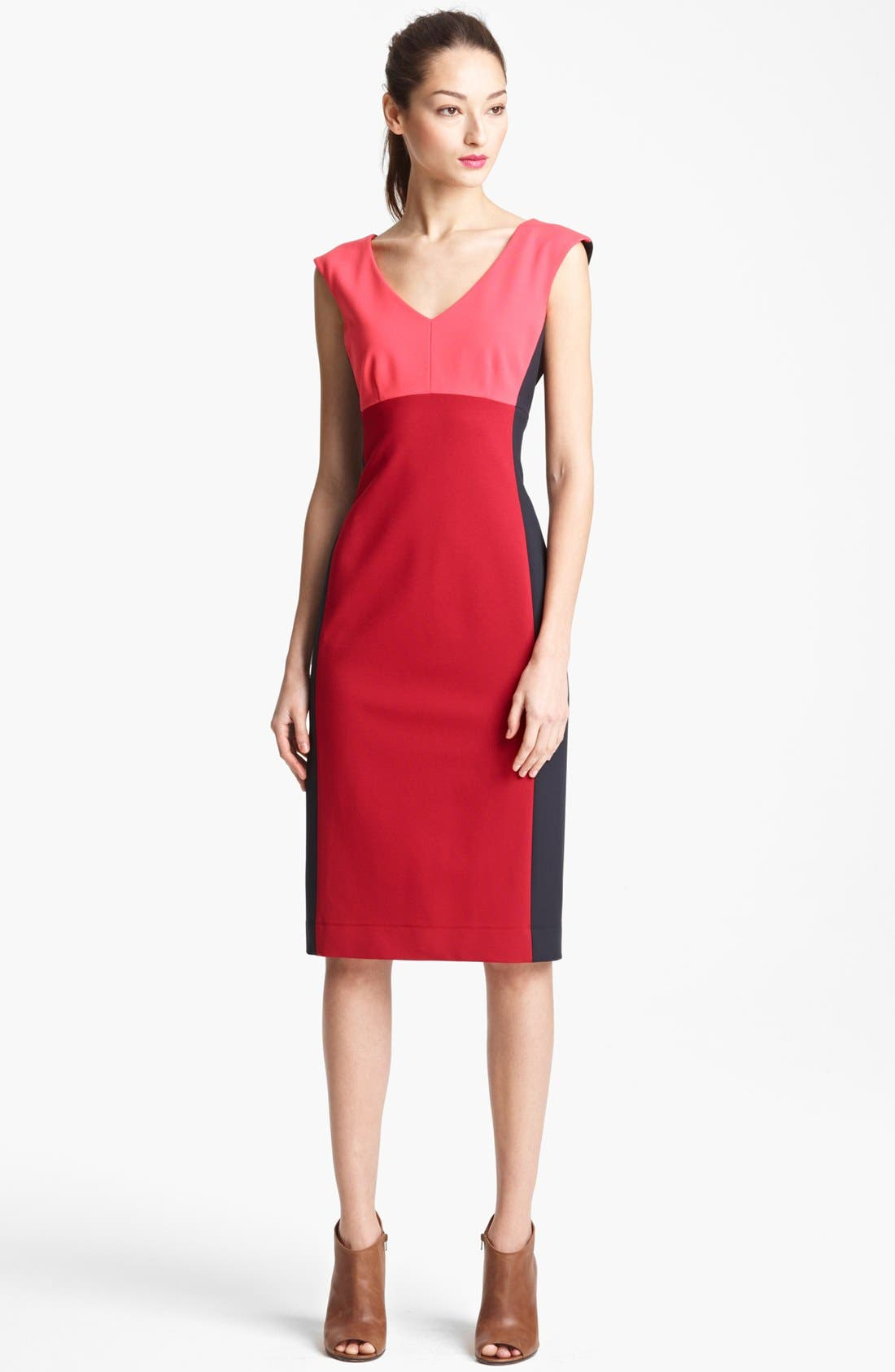 Main Image - Lida Baday Sleeveless Colorblock Dress