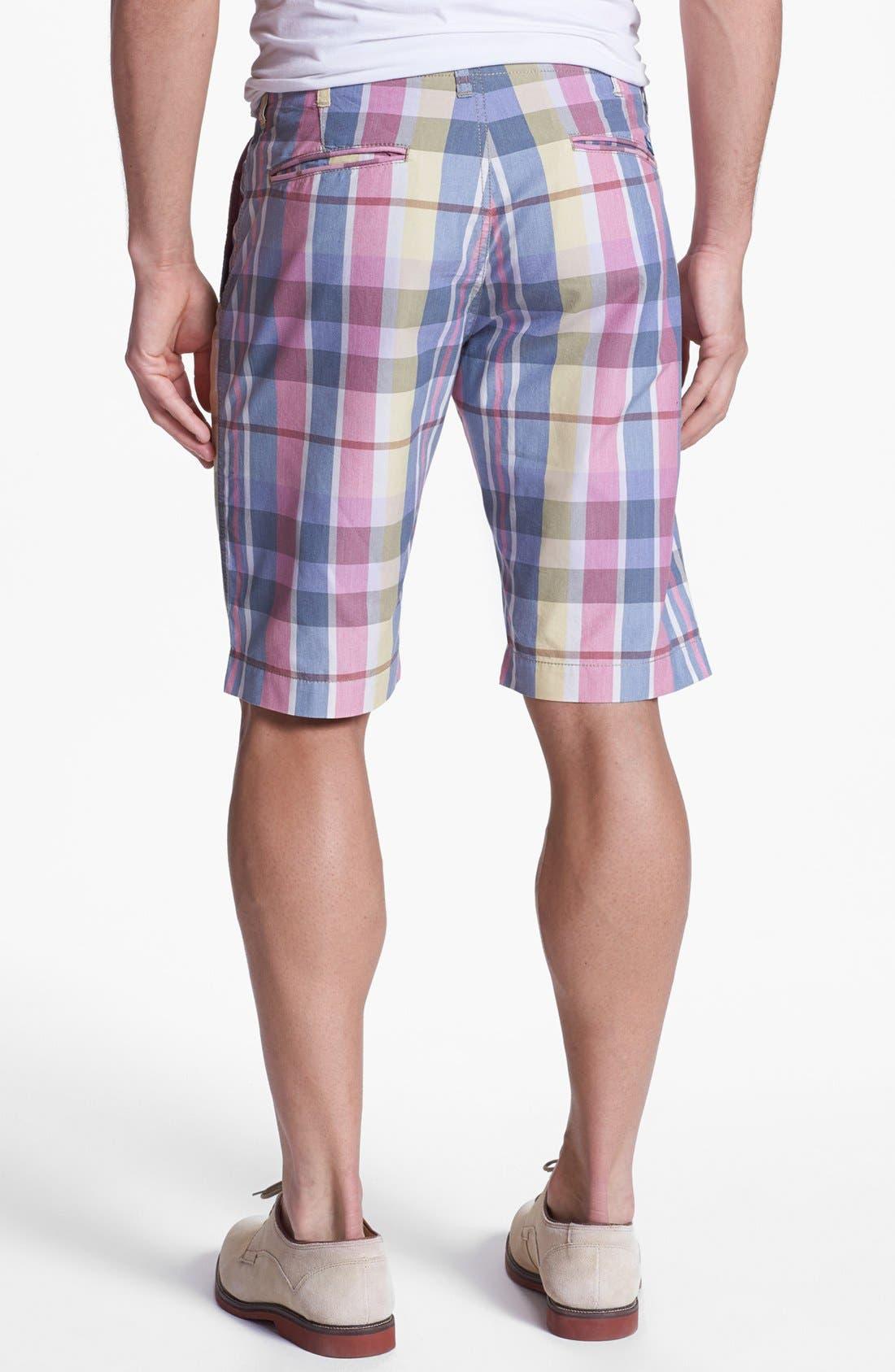 Alternate Image 2  - Façonnable Tailored Denim Plaid Bermuda Shorts