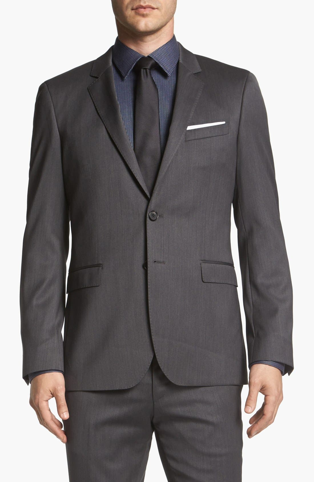 Alternate Image 4  - BOSS HUGO BOSS 'Ryan/Win' Extra Trim Fit Suit