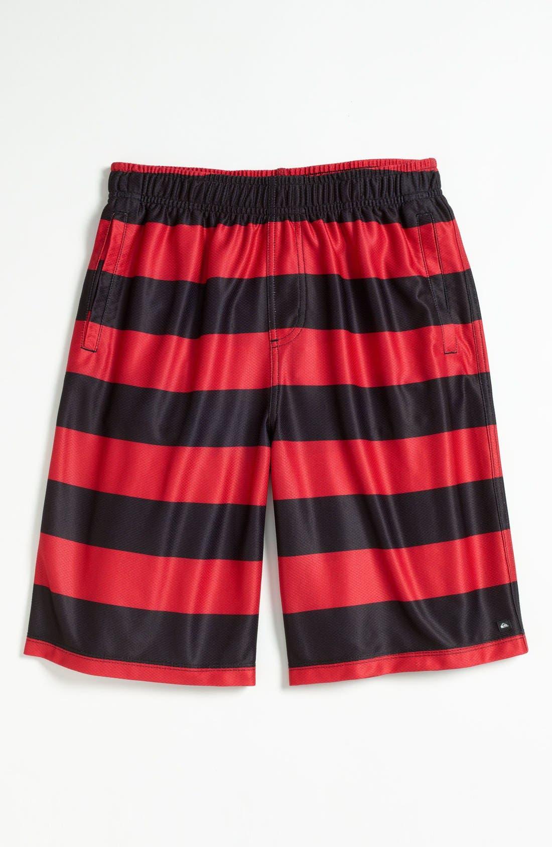 Alternate Image 1 Selected - Quiksilver Stripe Beach Shorts (Little Boys)