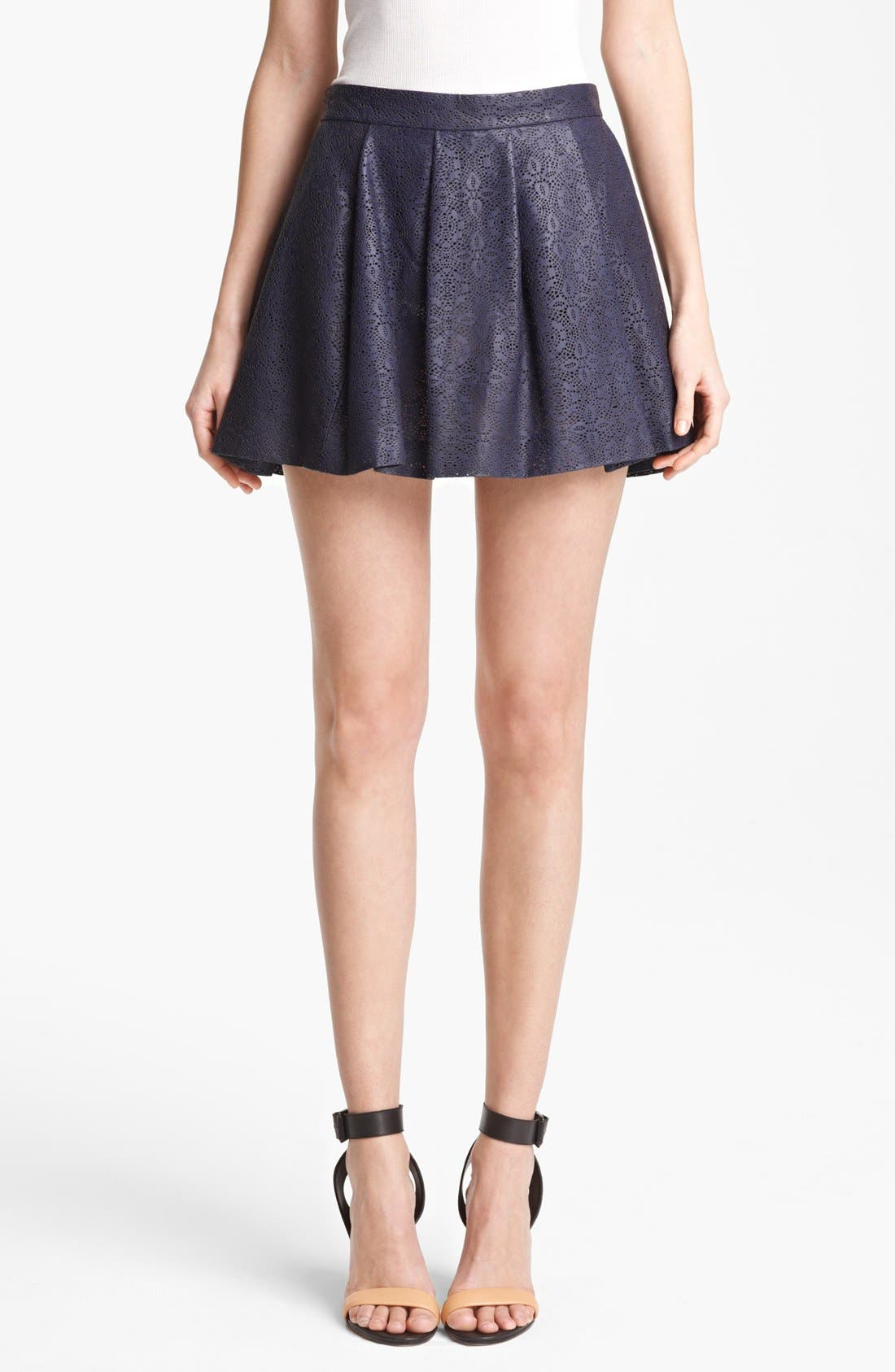 Alternate Image 1 Selected - Thakoon Laser Cut Leather Skirt