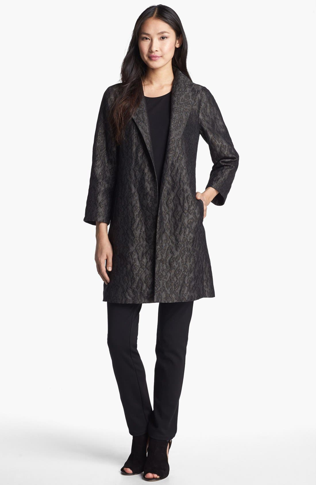 Alternate Image 1 Selected - Eileen Fisher 'Ikat Embers' Jacquard Jacket