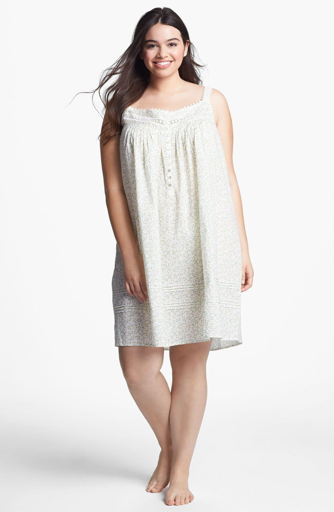 Main Image - Eileen West 'Ocean Mist' Short Nightgown (Plus Size)