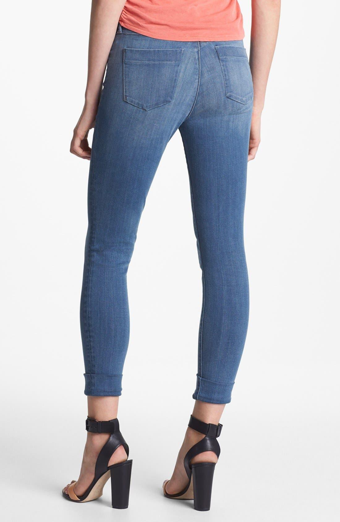 Alternate Image 2  - J Brand 'Anja' Cuff Crop Jeans (Stockholm)