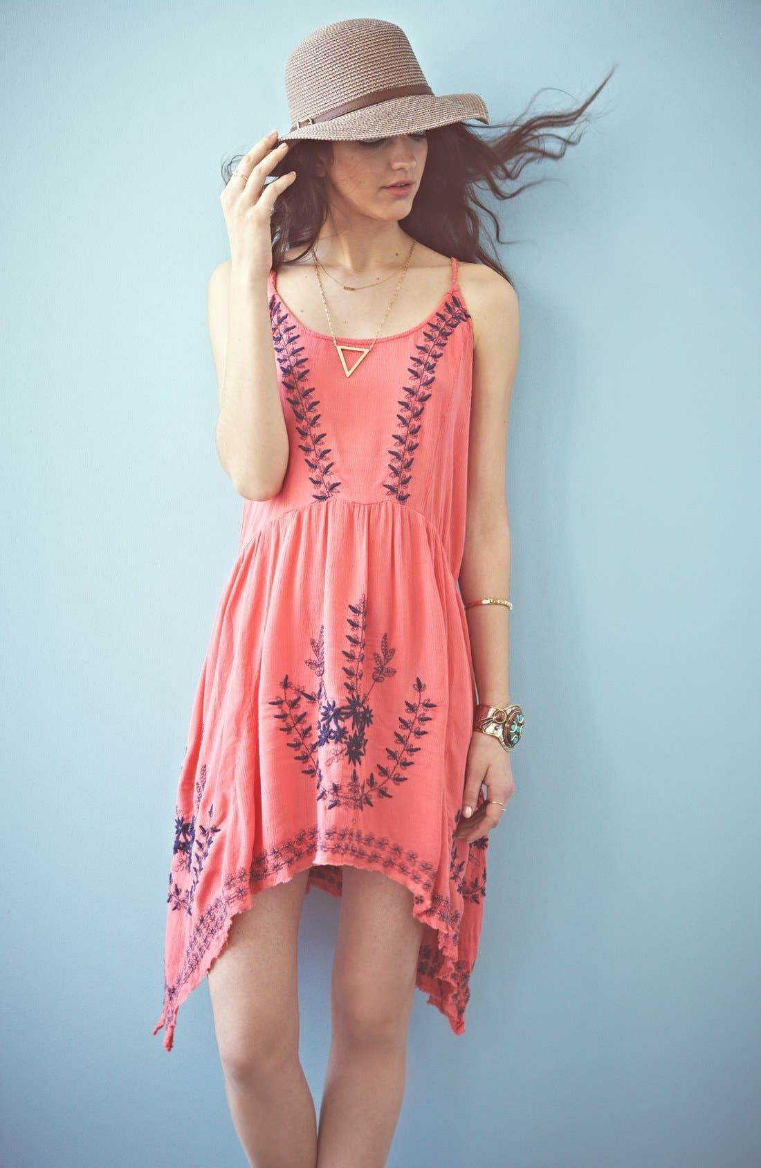 Alternate Image 5  - Free People 'Meadows of Medallion' Slip Dress