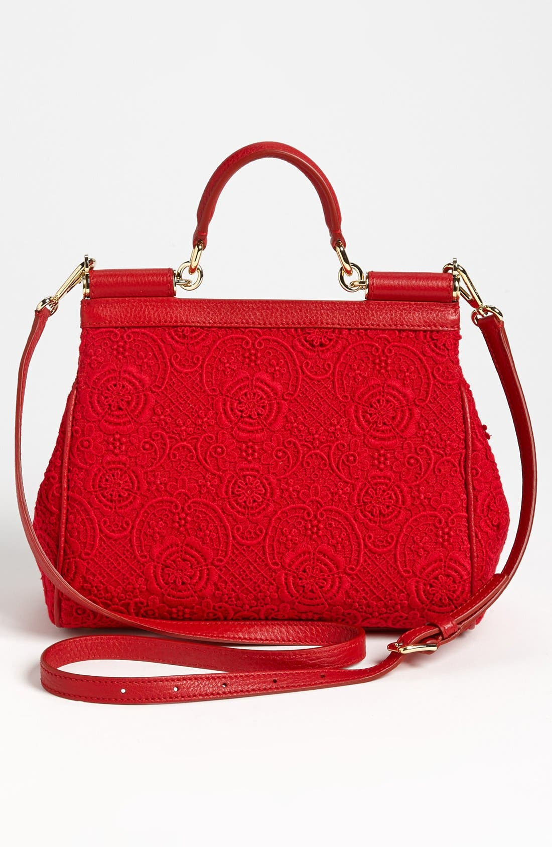 Alternate Image 4  - Dolce&Gabbana 'Miss Sicily - Small' Leather & Lace Satchel