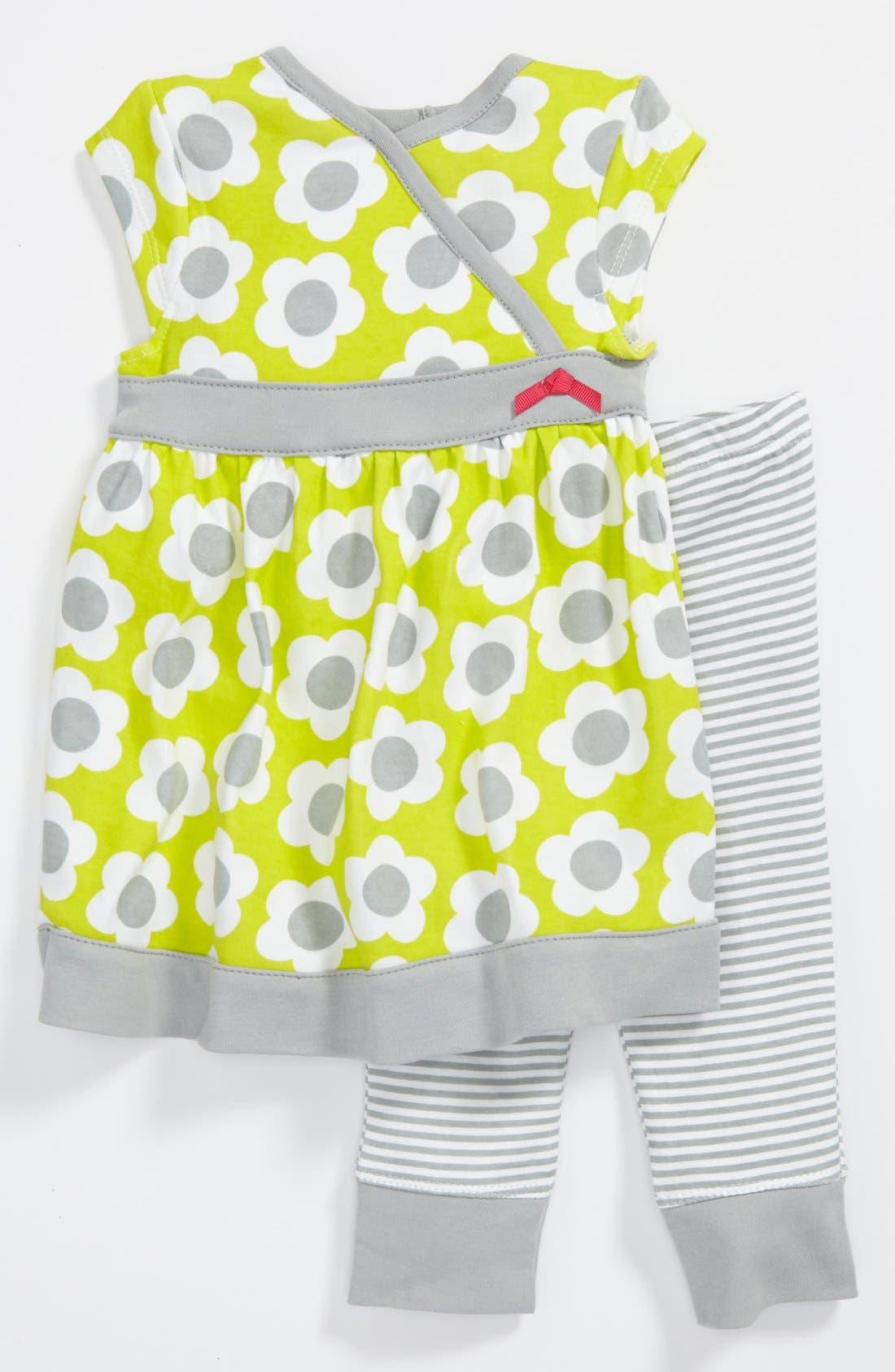 Alternate Image 1 Selected - Offspring Dress & Leggings (Baby Girls)