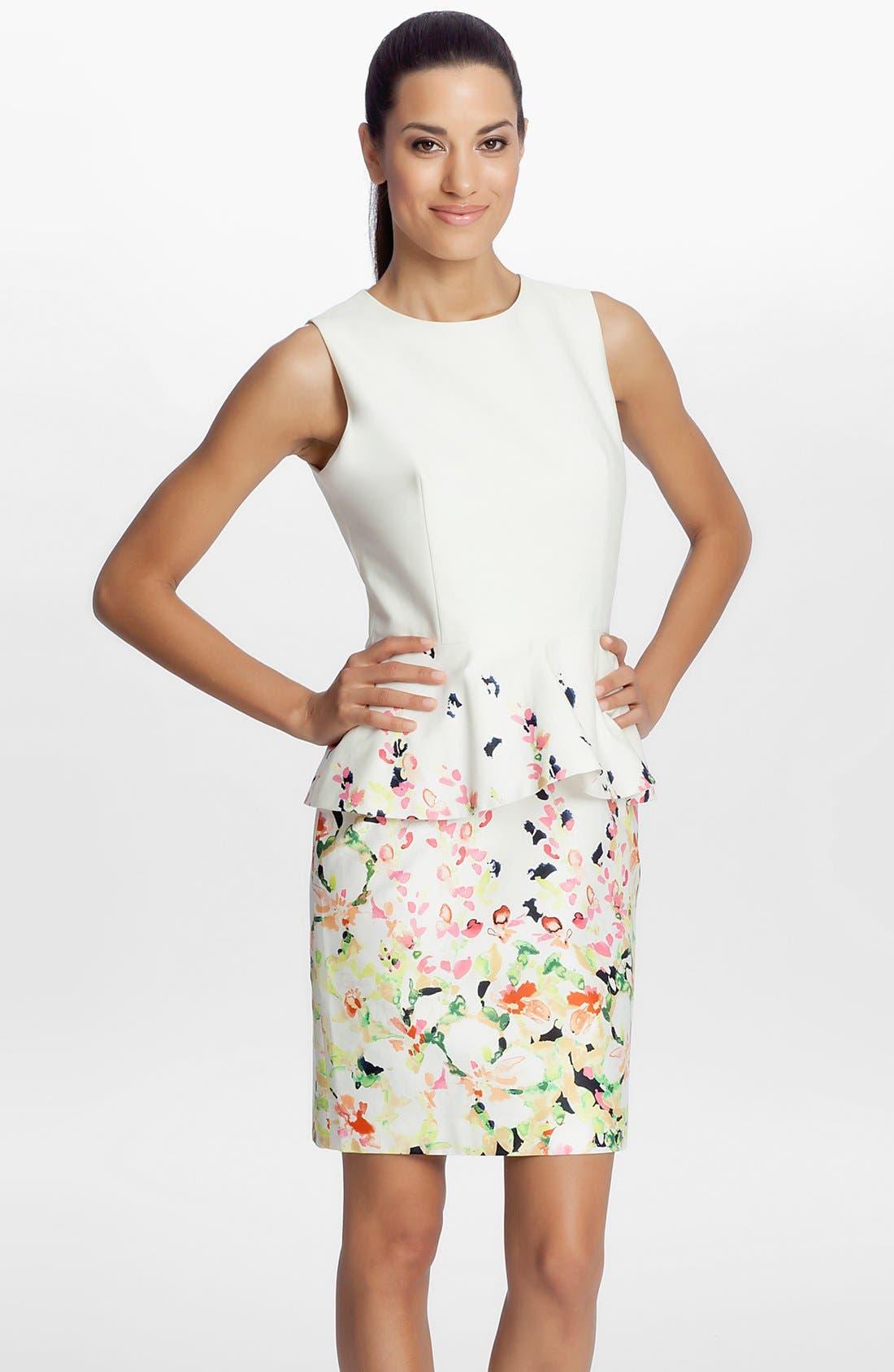 Alternate Image 1 Selected - Cynthia Steffe 'Camille' Peplum Dress