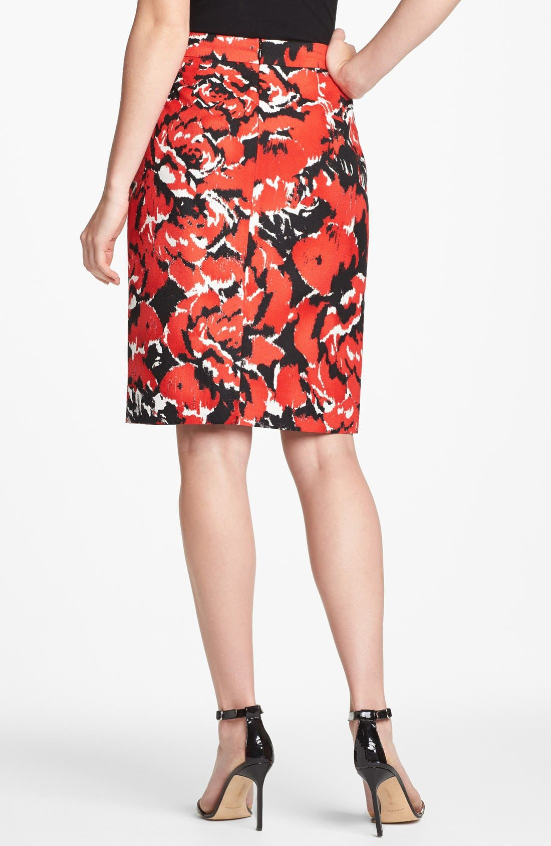 Alternate Image 2  - Classiques Entier® Dobby Print Skirt