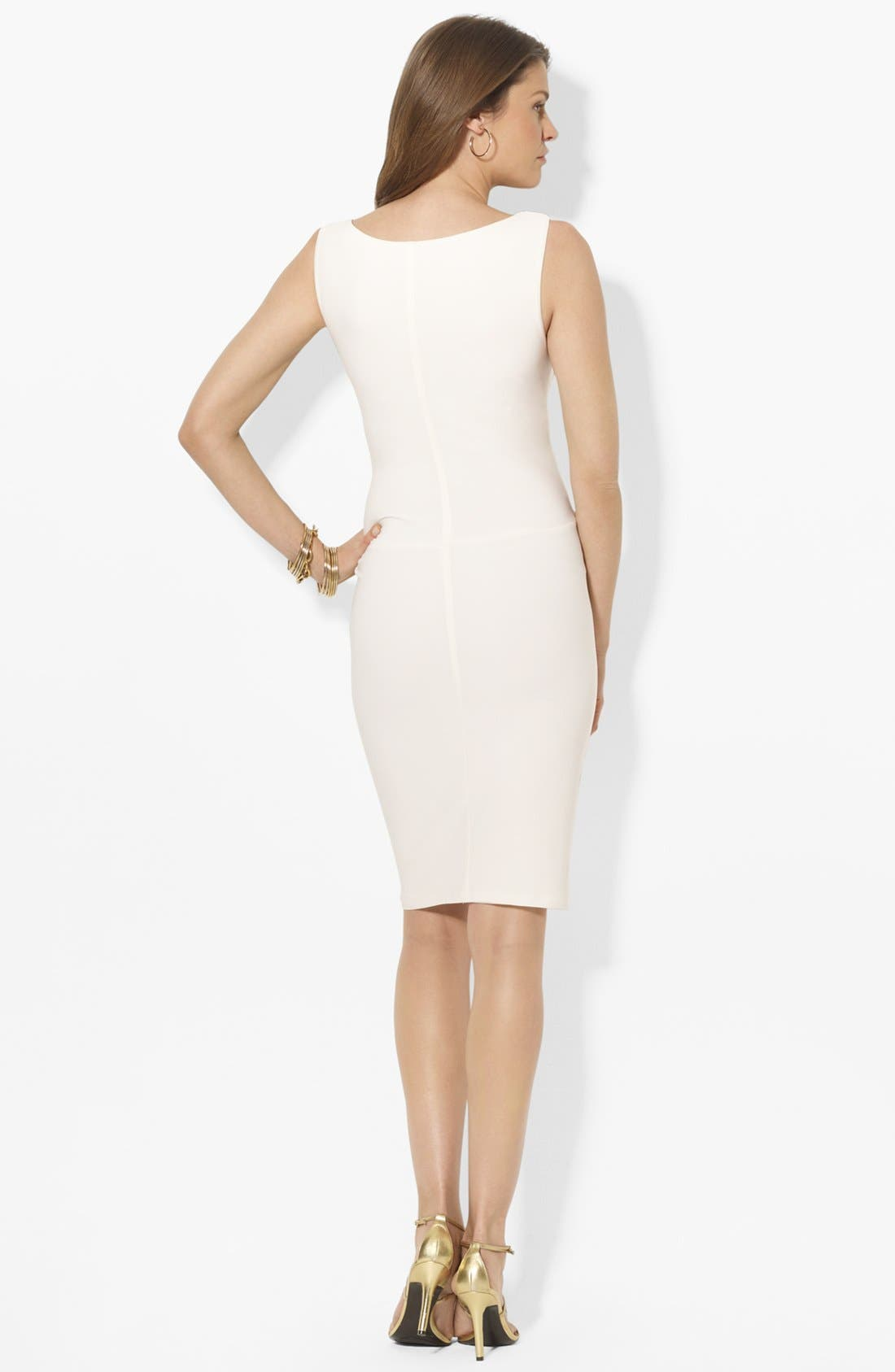 Alternate Image 2  - Lauren Ralph Lauren Knot Front Matte Jersey Sheath Dress