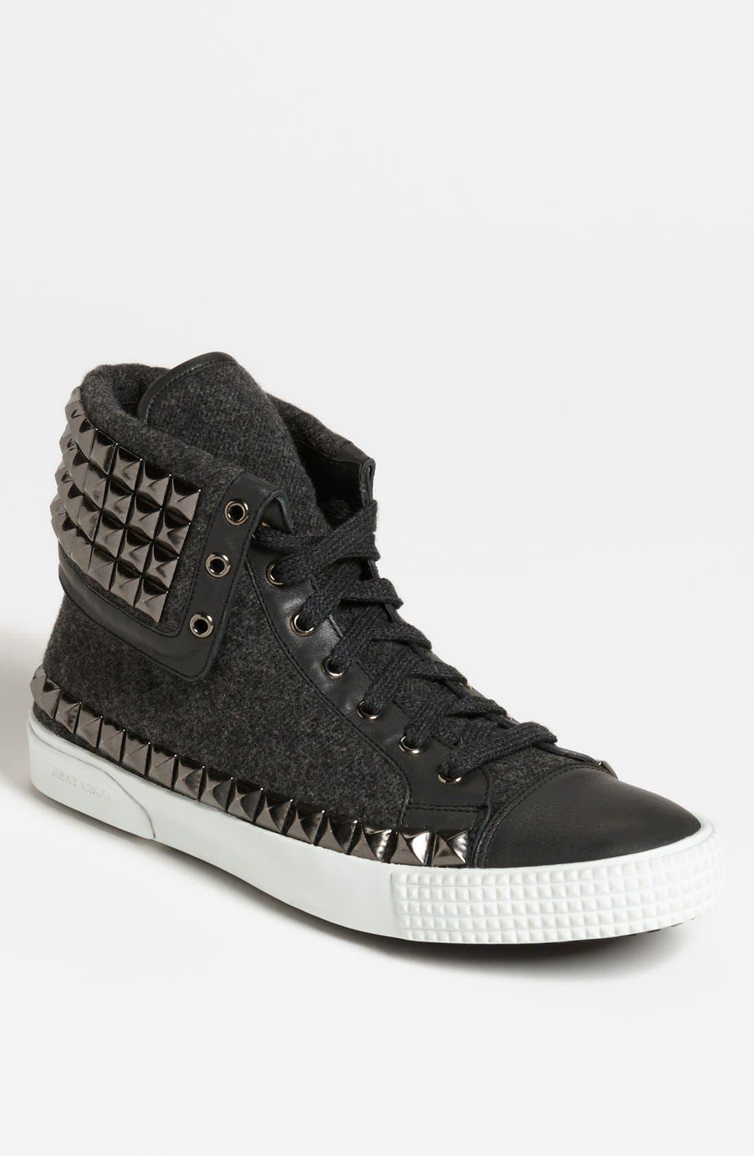 Alternate Image 1 Selected - Jimmy Choo 'Spencer' Studded Sneaker