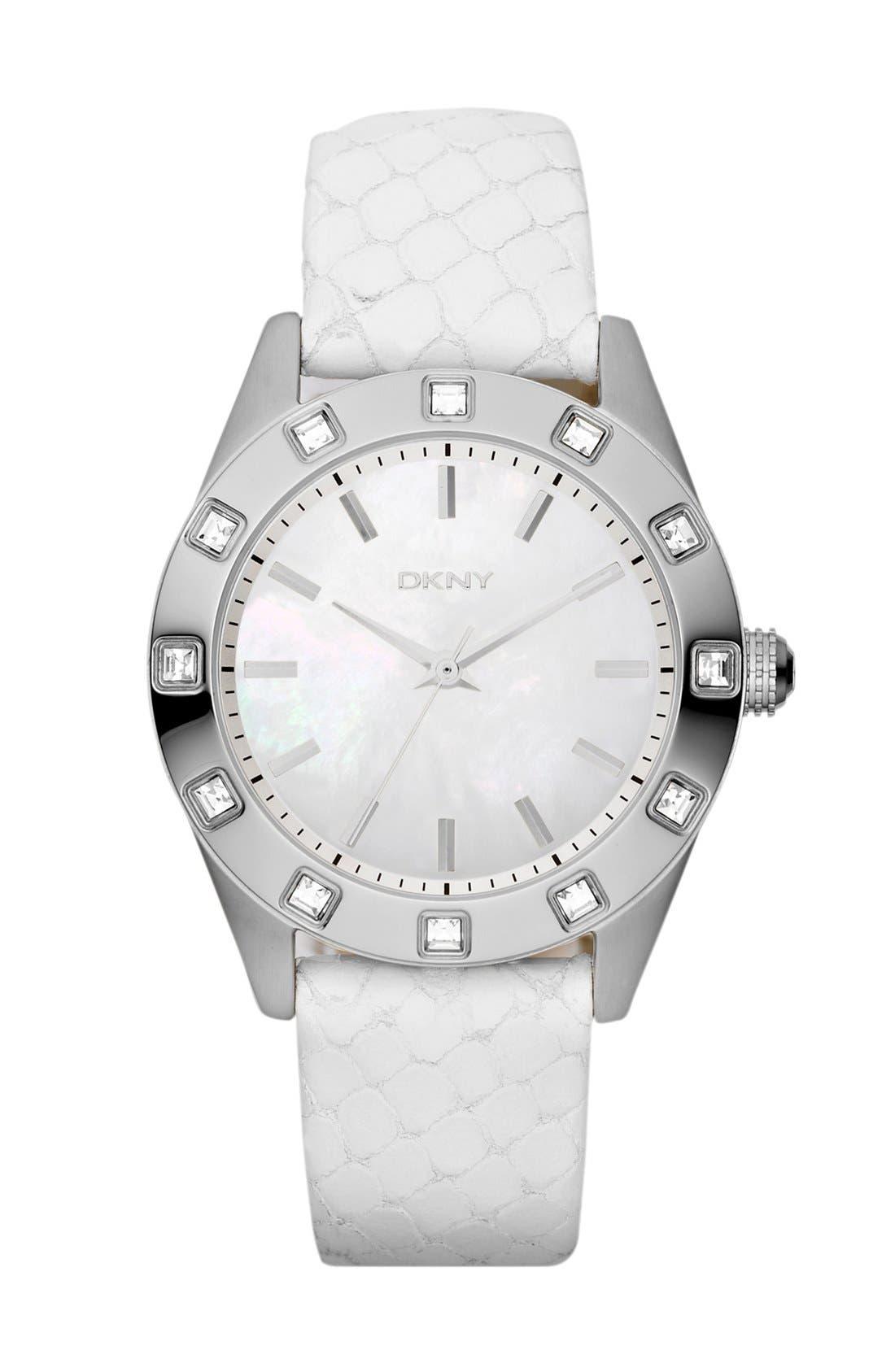 Alternate Image 1 Selected - DKNY Crystal Bezel Watch, 36mm