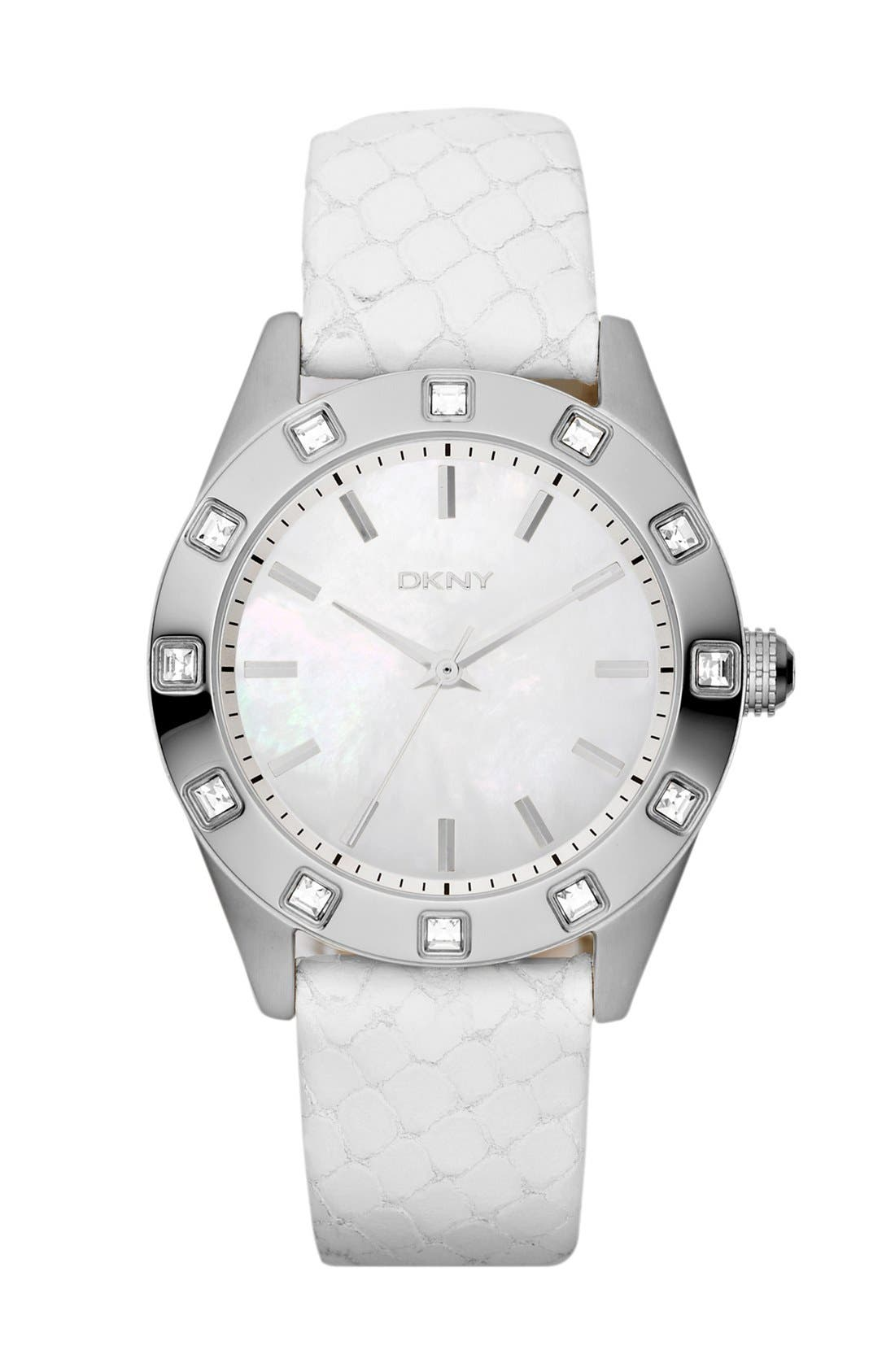 Main Image - DKNY Crystal Bezel Watch, 36mm