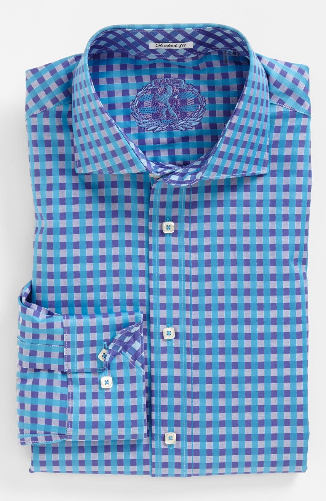 Alternate Image 2  - Bugatchi Gingham Shaped Fit Cotton Sport Shirt