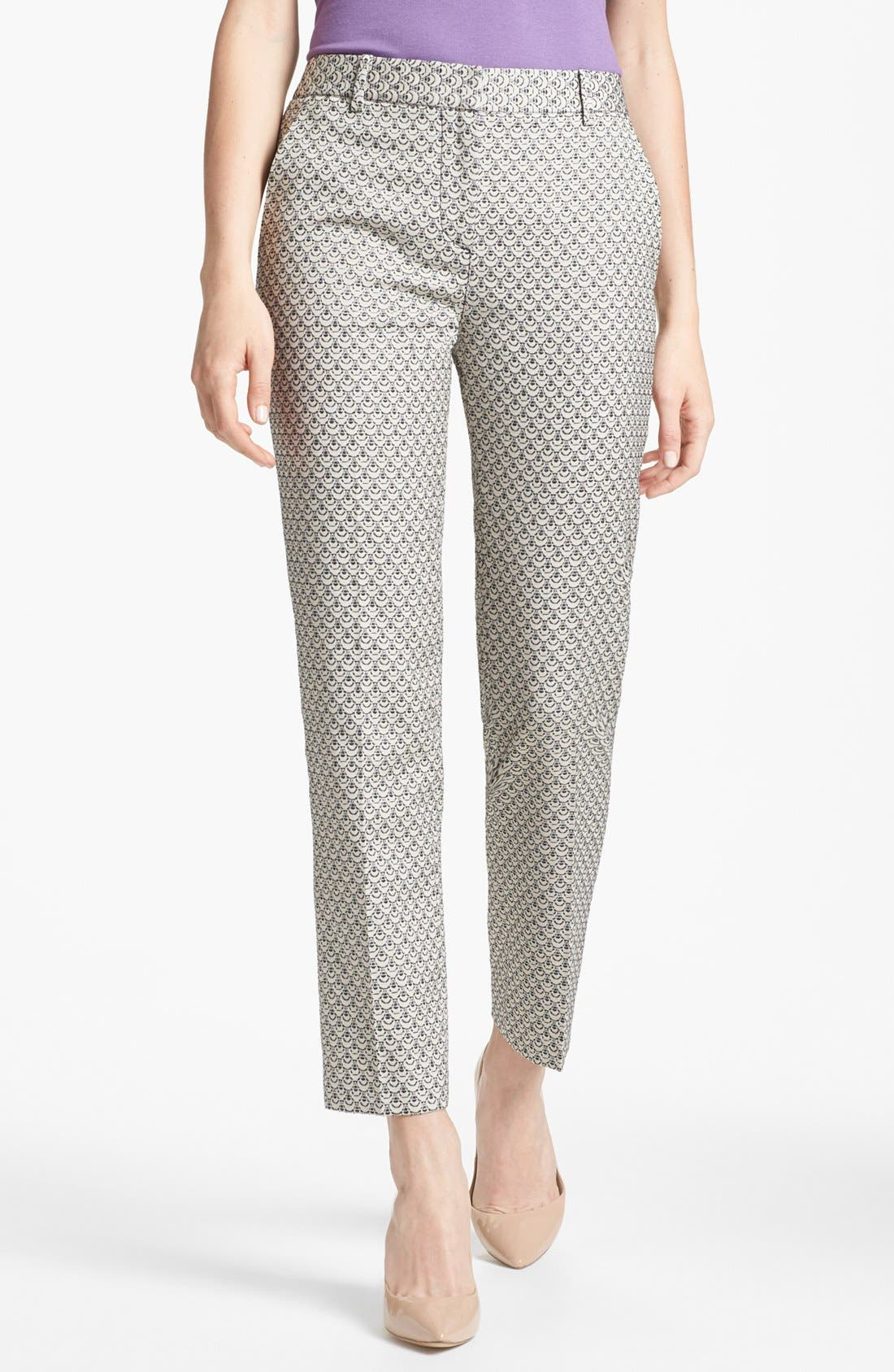 Alternate Image 1 Selected - Tory Burch 'Isabella' Crop Trousers