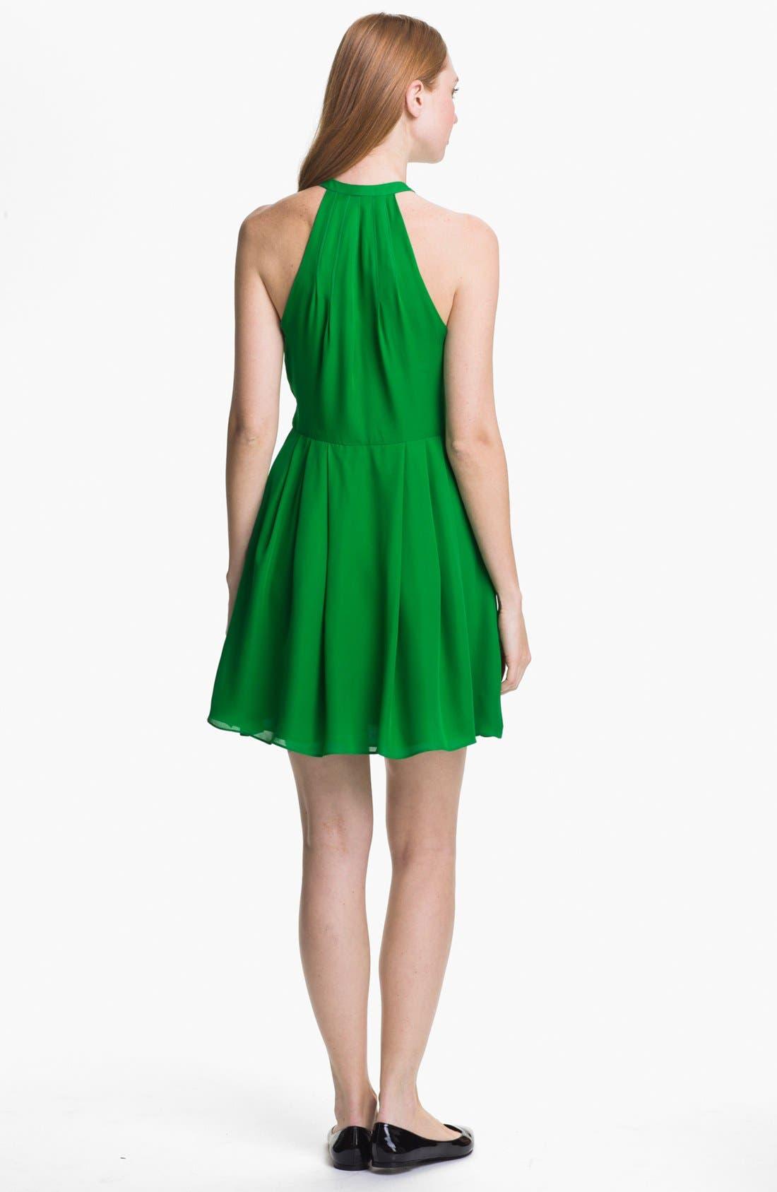 Alternate Image 2  - Parker 'Nicole' Studded Silk A-Line Dress