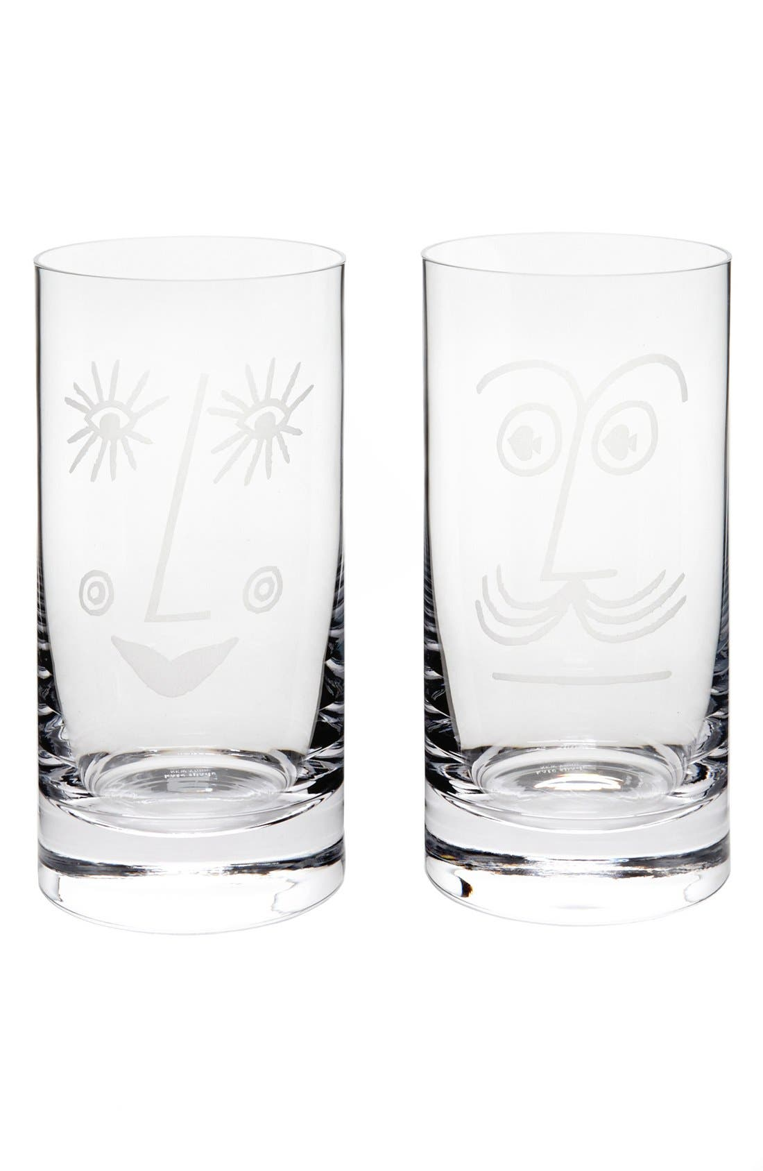 Alternate Image 1 Selected - kate spade new york 'two of a kind™ - bar belles' highball glasses (set of 2)