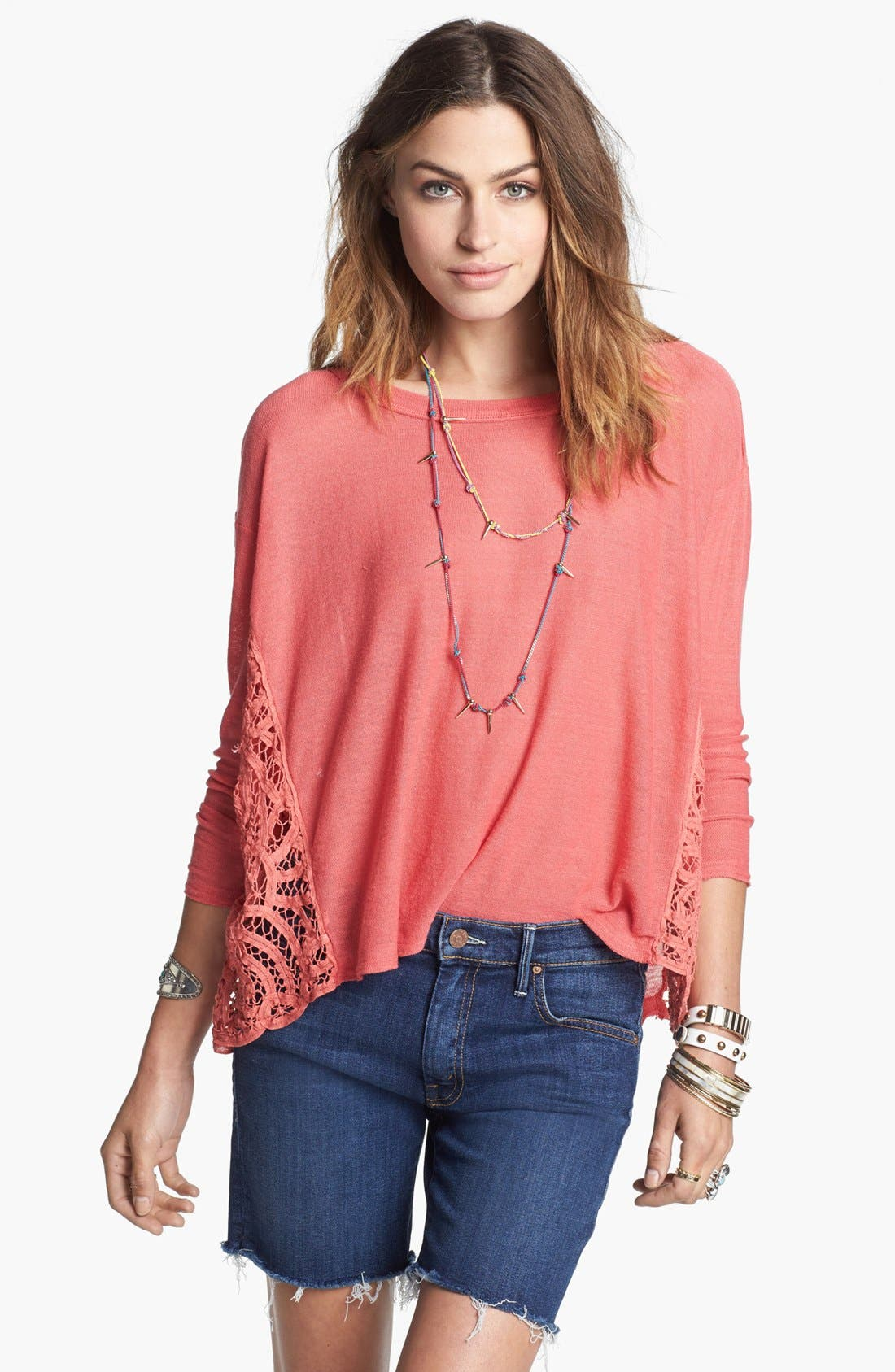 Alternate Image 1  - Free People 'Love Me Do' Pullover